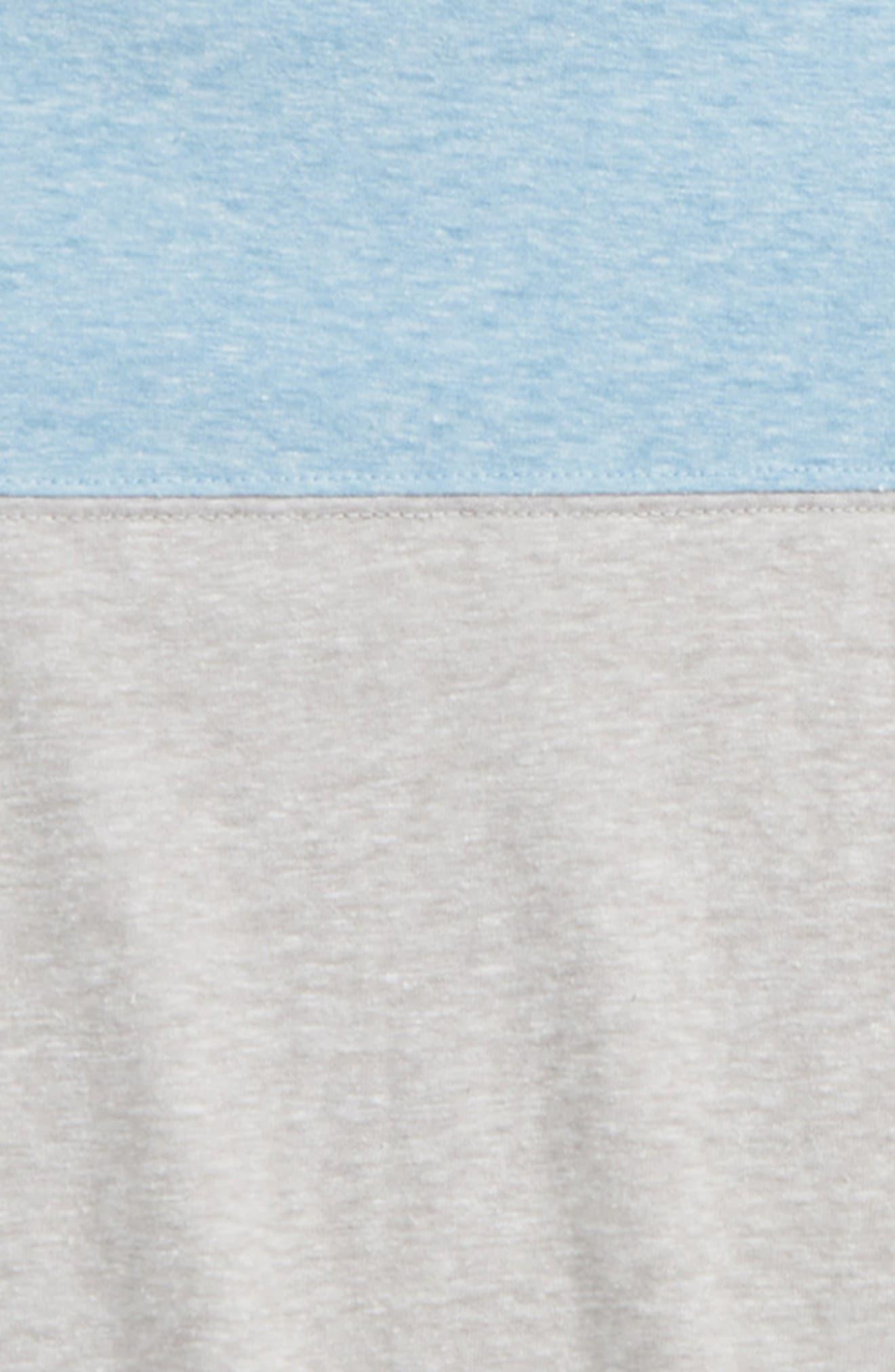 Colorblock T-Shirt,                             Alternate thumbnail 2, color,                             Grey Ash Heather- Blue