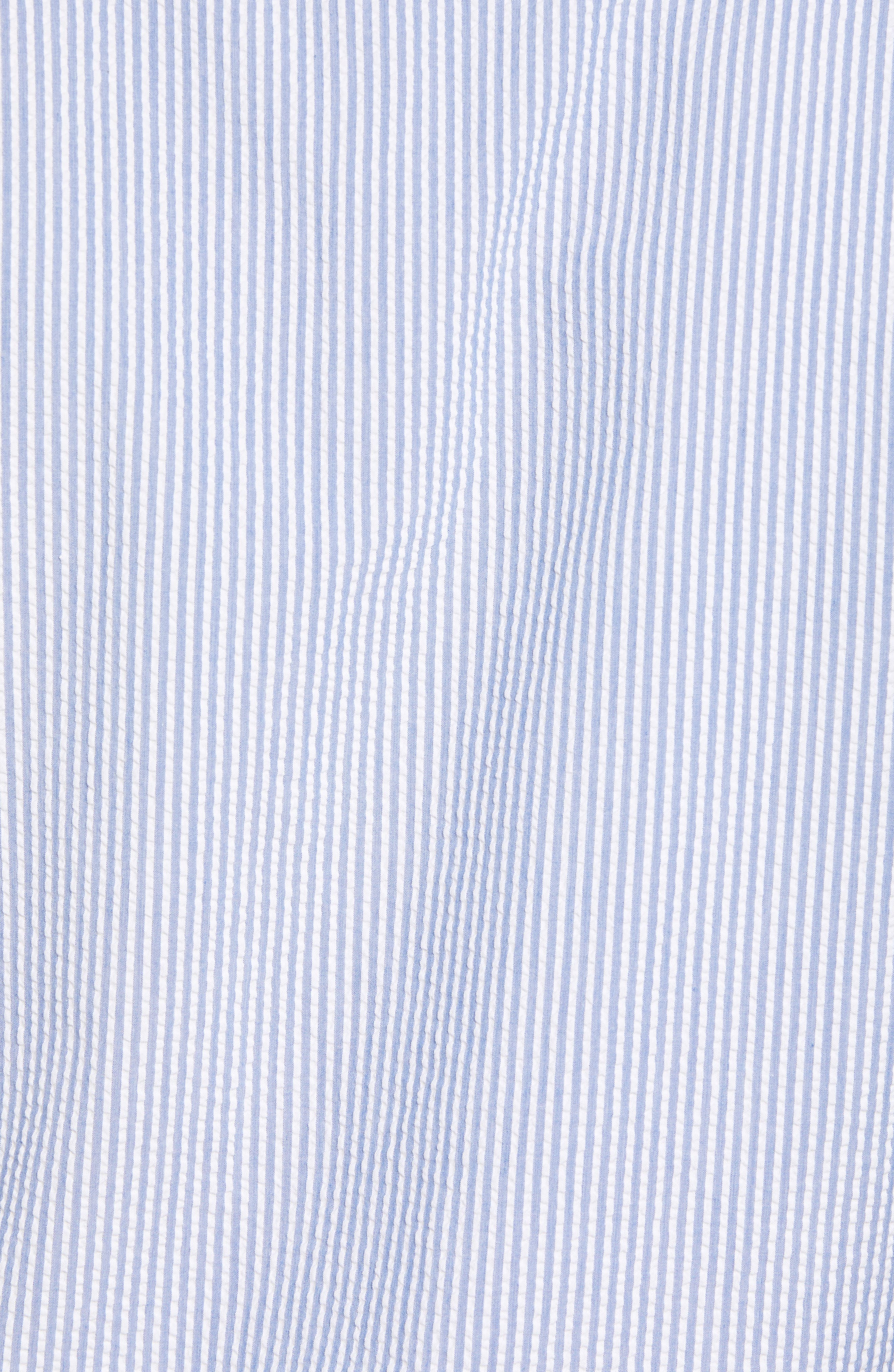 Summertime Stripe Seersucker Sport Shirt,                             Alternate thumbnail 5, color,                             Blue Ceillo