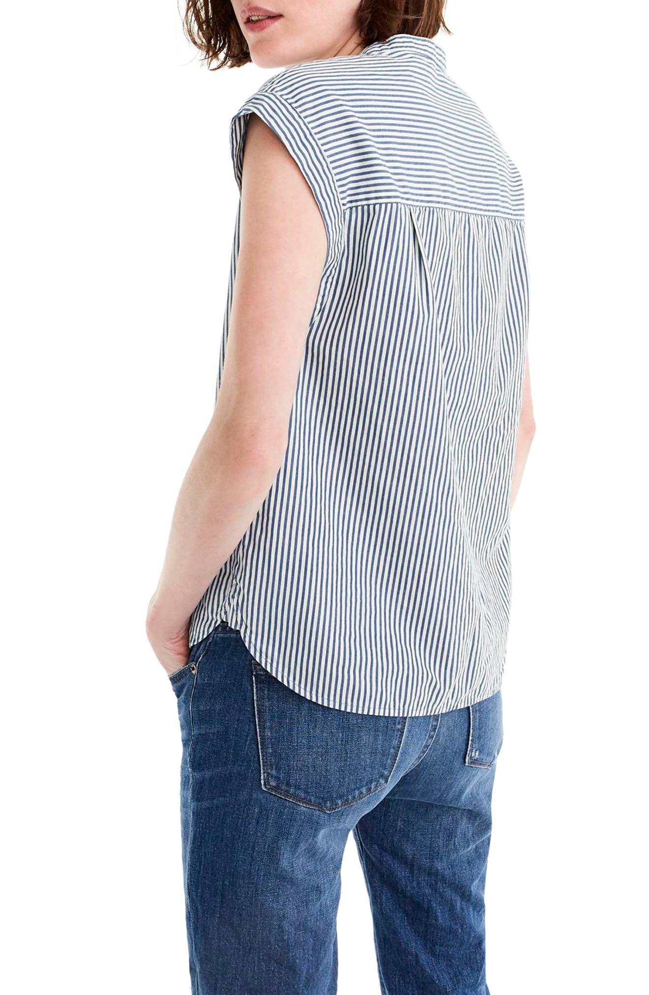 Cap Sleeve Stripe Top,                             Alternate thumbnail 2, color,                             Thalia Stripe
