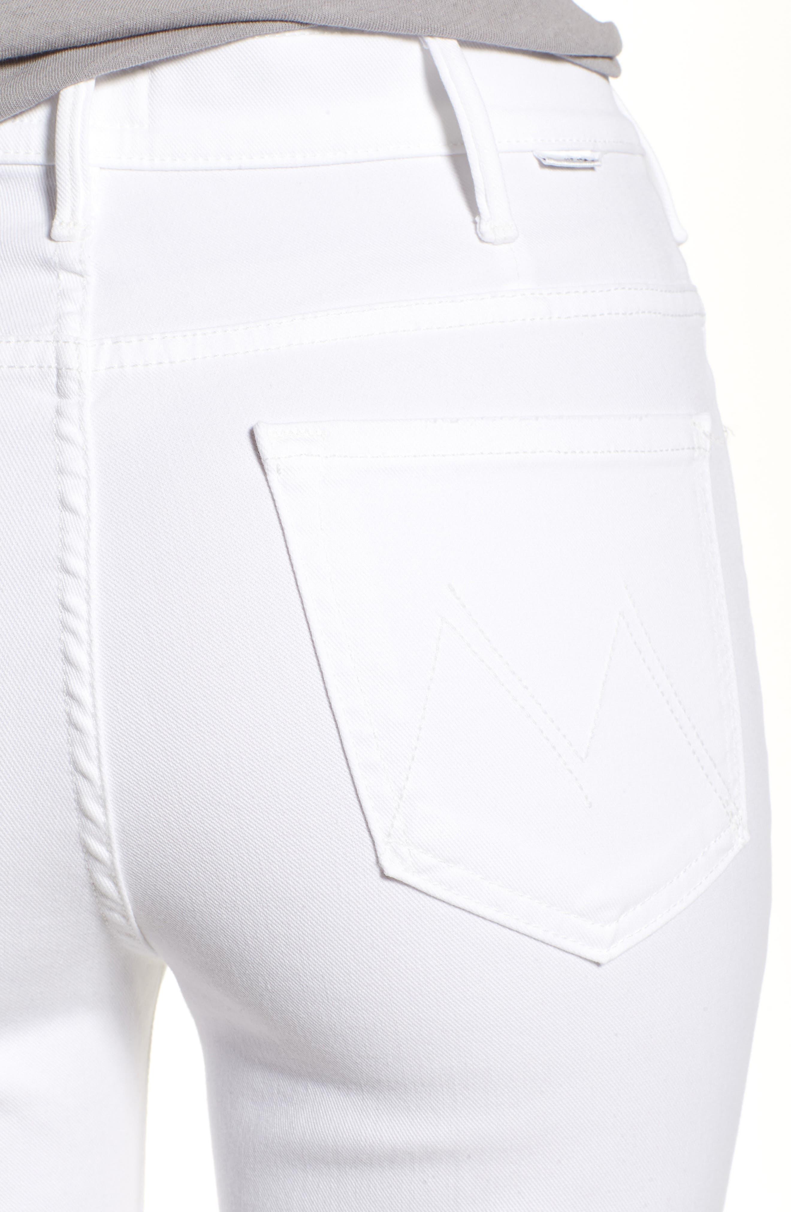 Alternate Image 4  - MOTHER The Hustler Fray Ankle Bootcut Jeans (Glass Slipper)