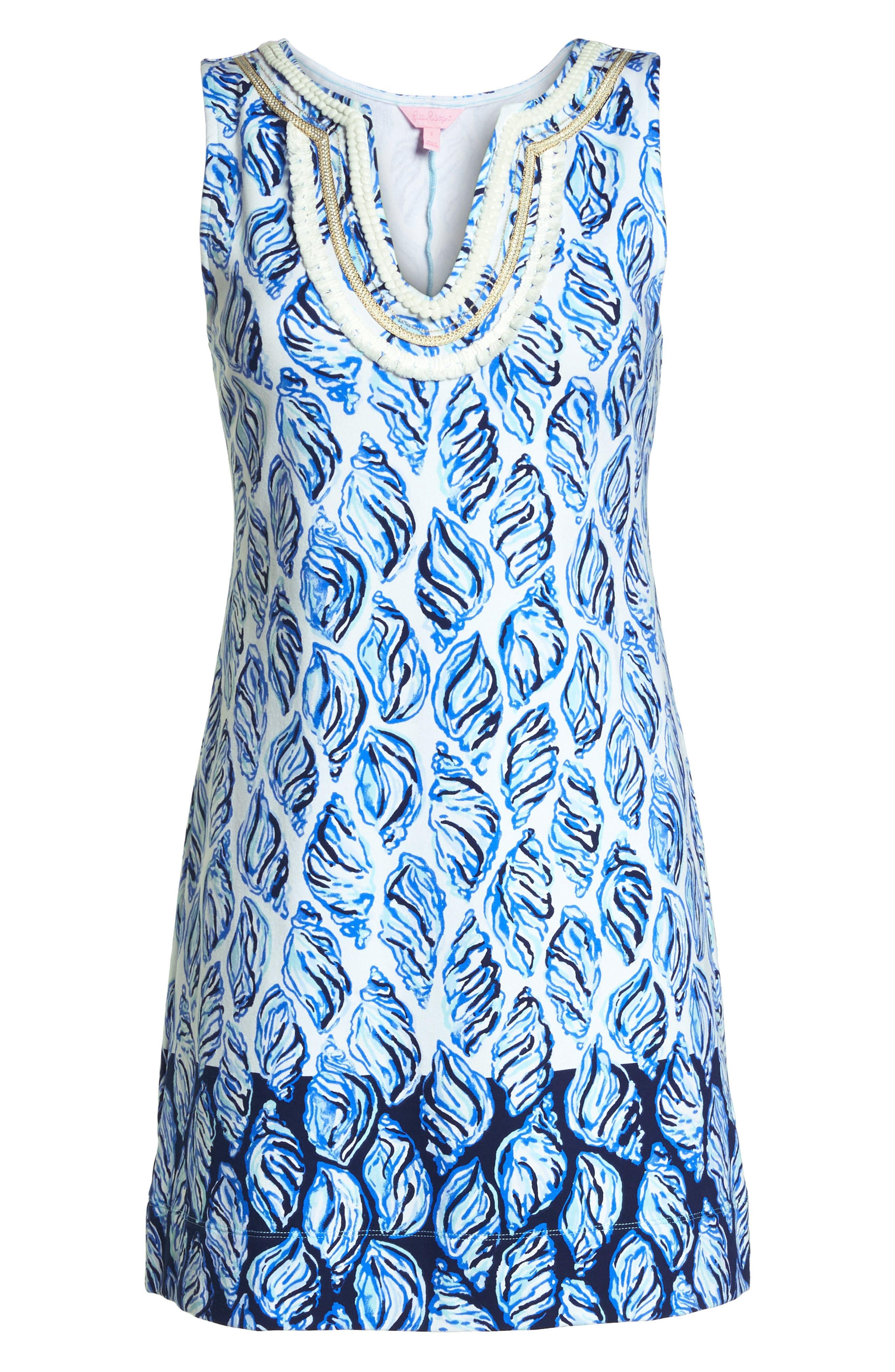 Harper Shift Dress,                             Alternate thumbnail 6, color,                             Resort White Drop In