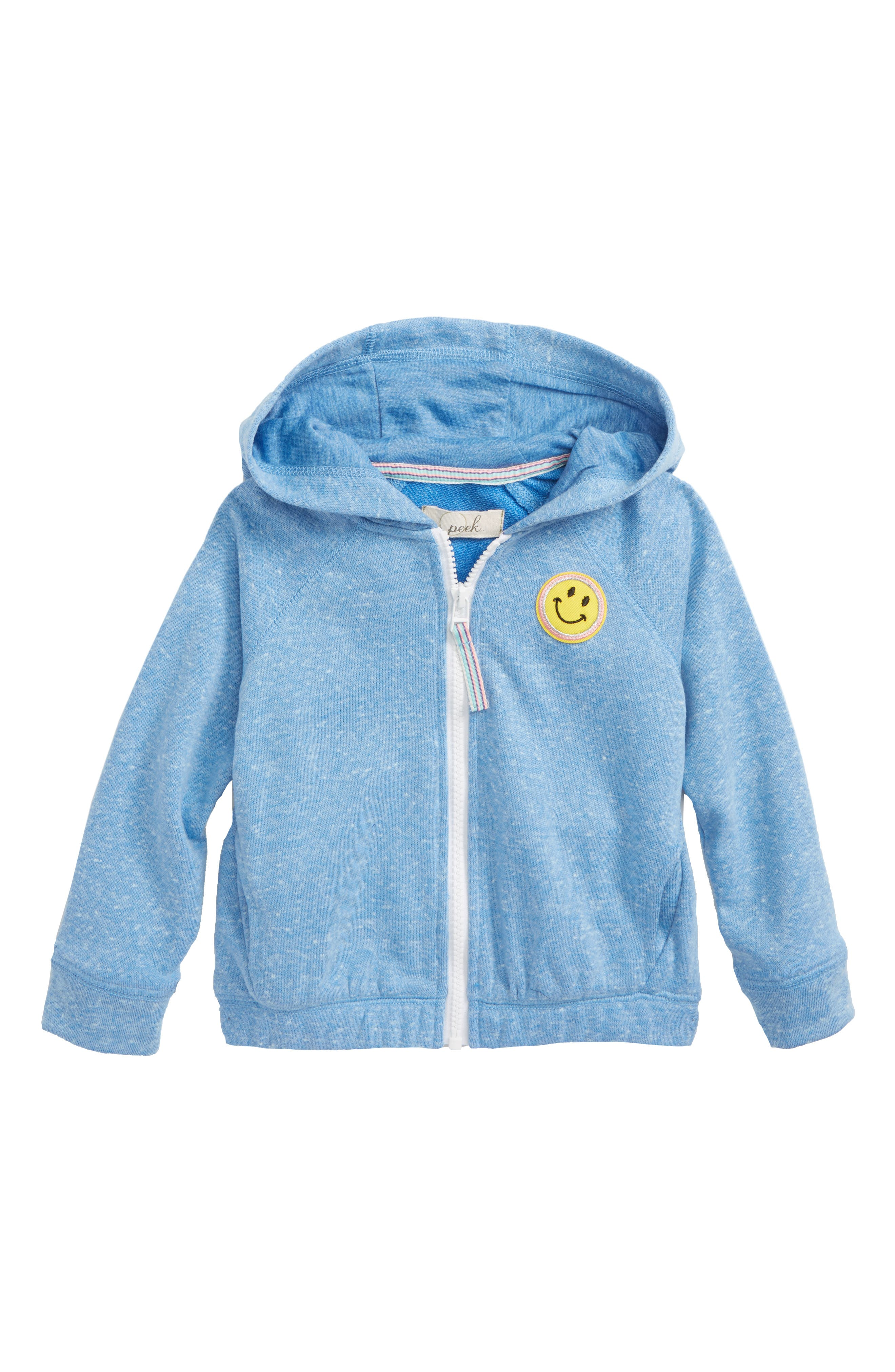 PS I Love You Full Zip Hoodie,                             Main thumbnail 1, color,                             Blue