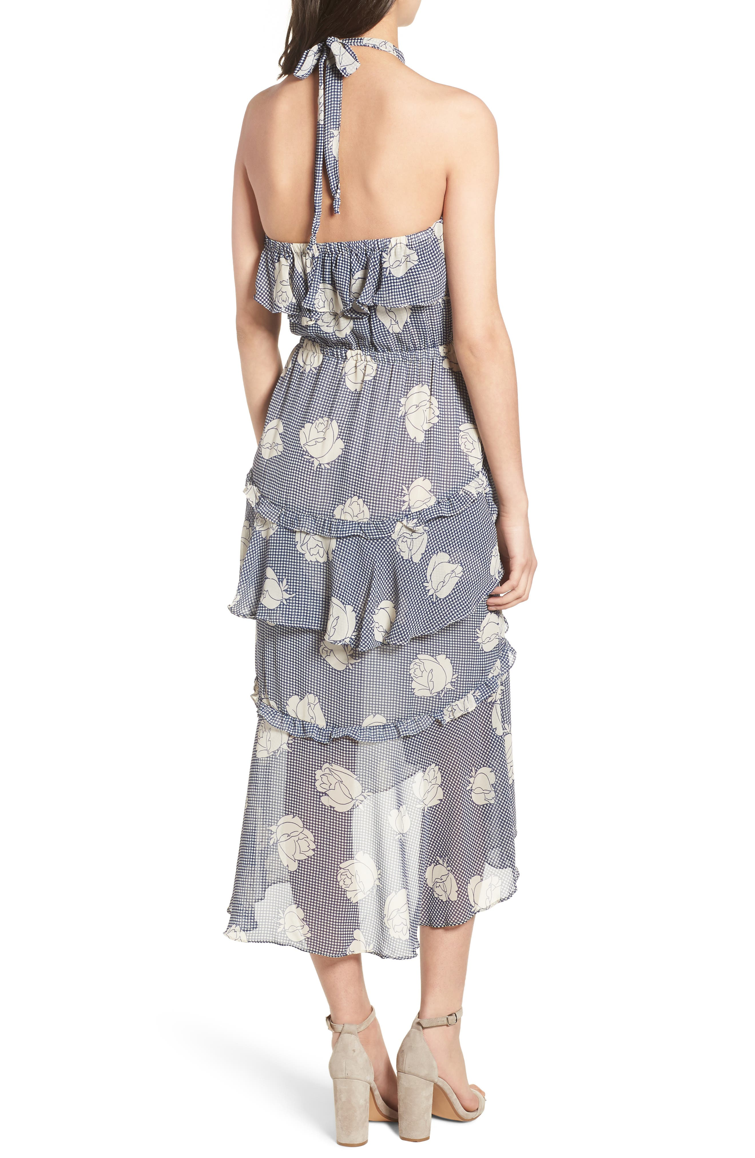 Anca Halter Dress,                             Alternate thumbnail 2, color,                             Multi Fe12