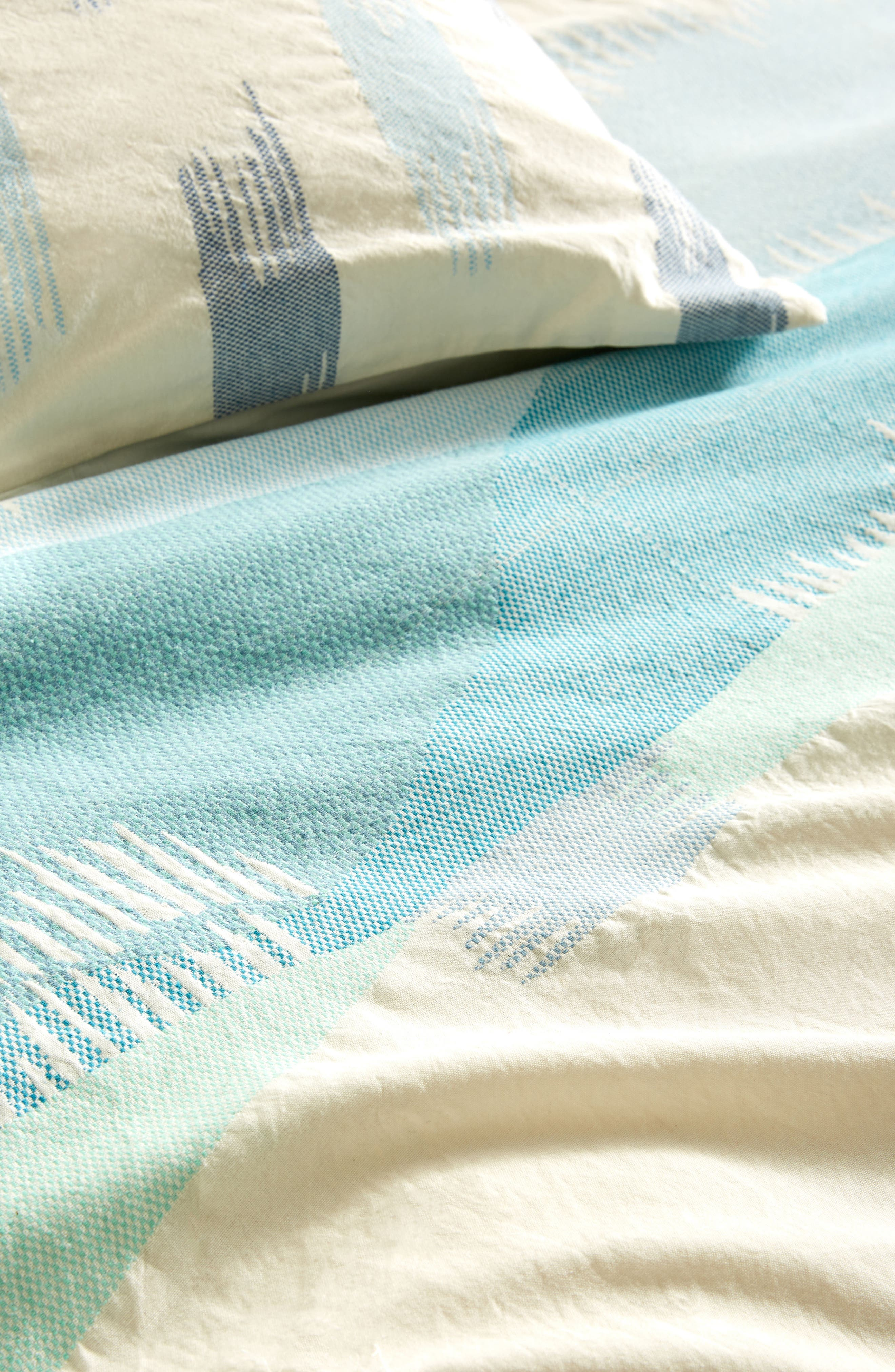 Woven Calera Duvet Cover,                             Alternate thumbnail 2, color,                             Blue