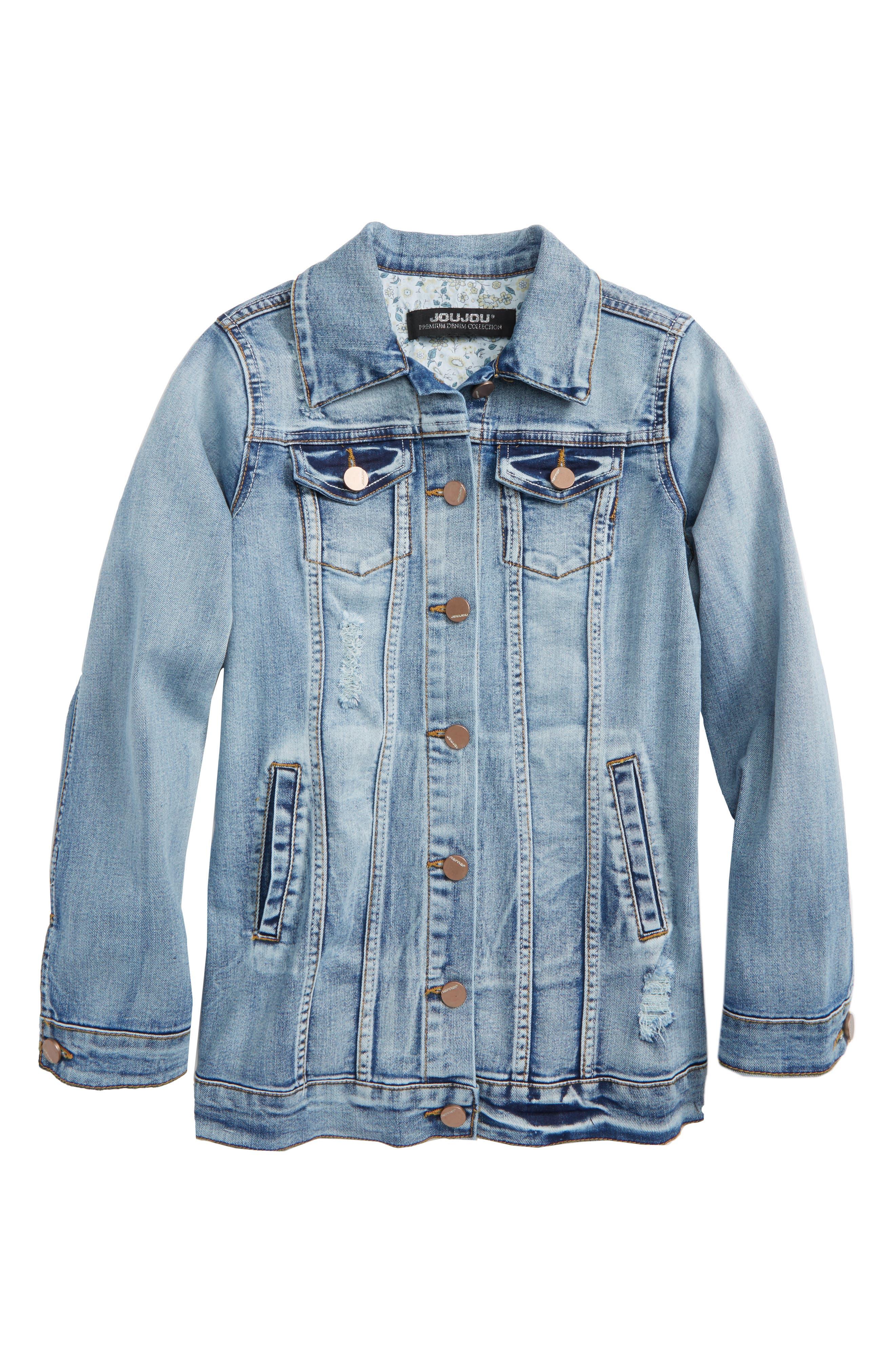 Jou Jou Denise Stretch Denim Jacket (Big Girls)