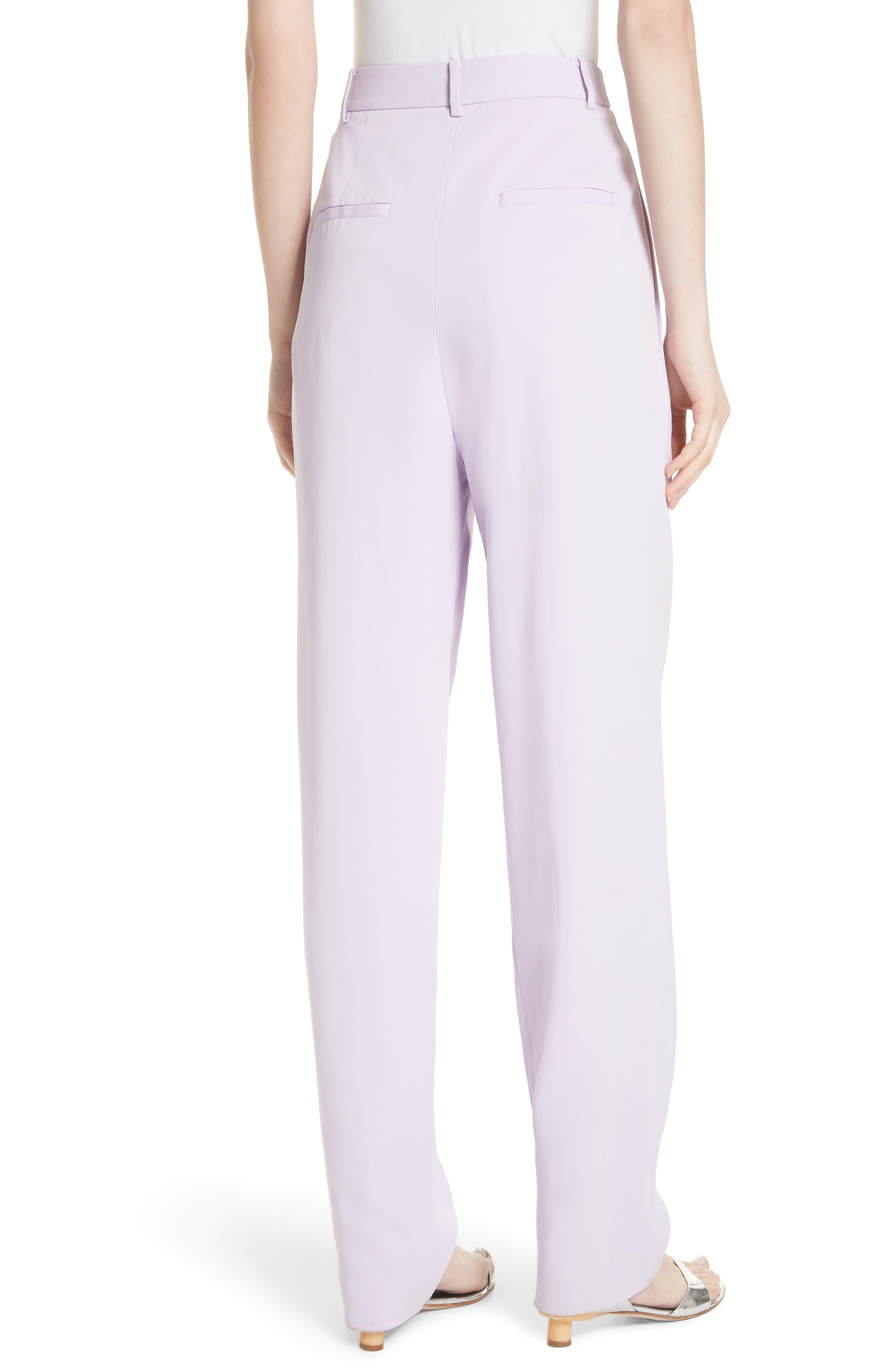 Sculpted Pleat Front Suit Pants,                             Alternate thumbnail 2, color,                             Lavender
