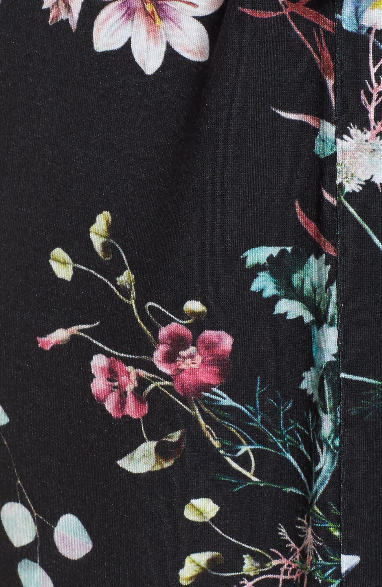 Elena Kimono,                             Alternate thumbnail 5, color,                             Black