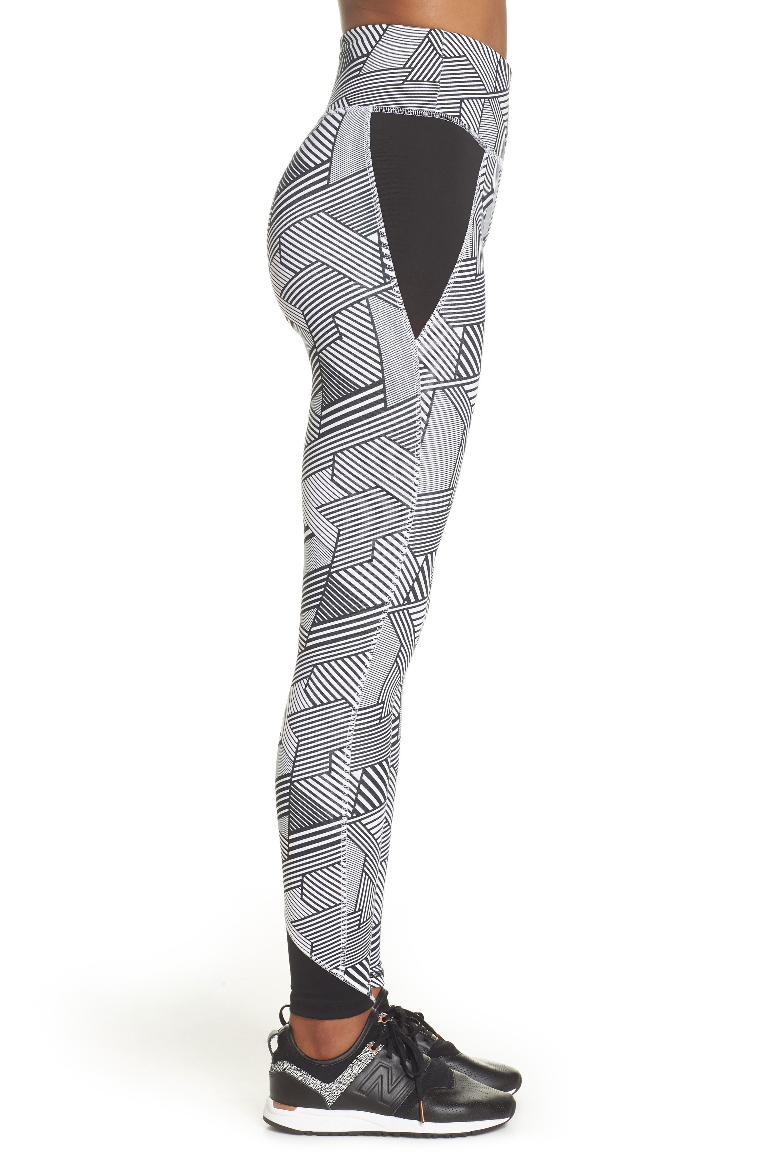 247 Sport Leggings,                             Alternate thumbnail 3, color,                             Black Multi