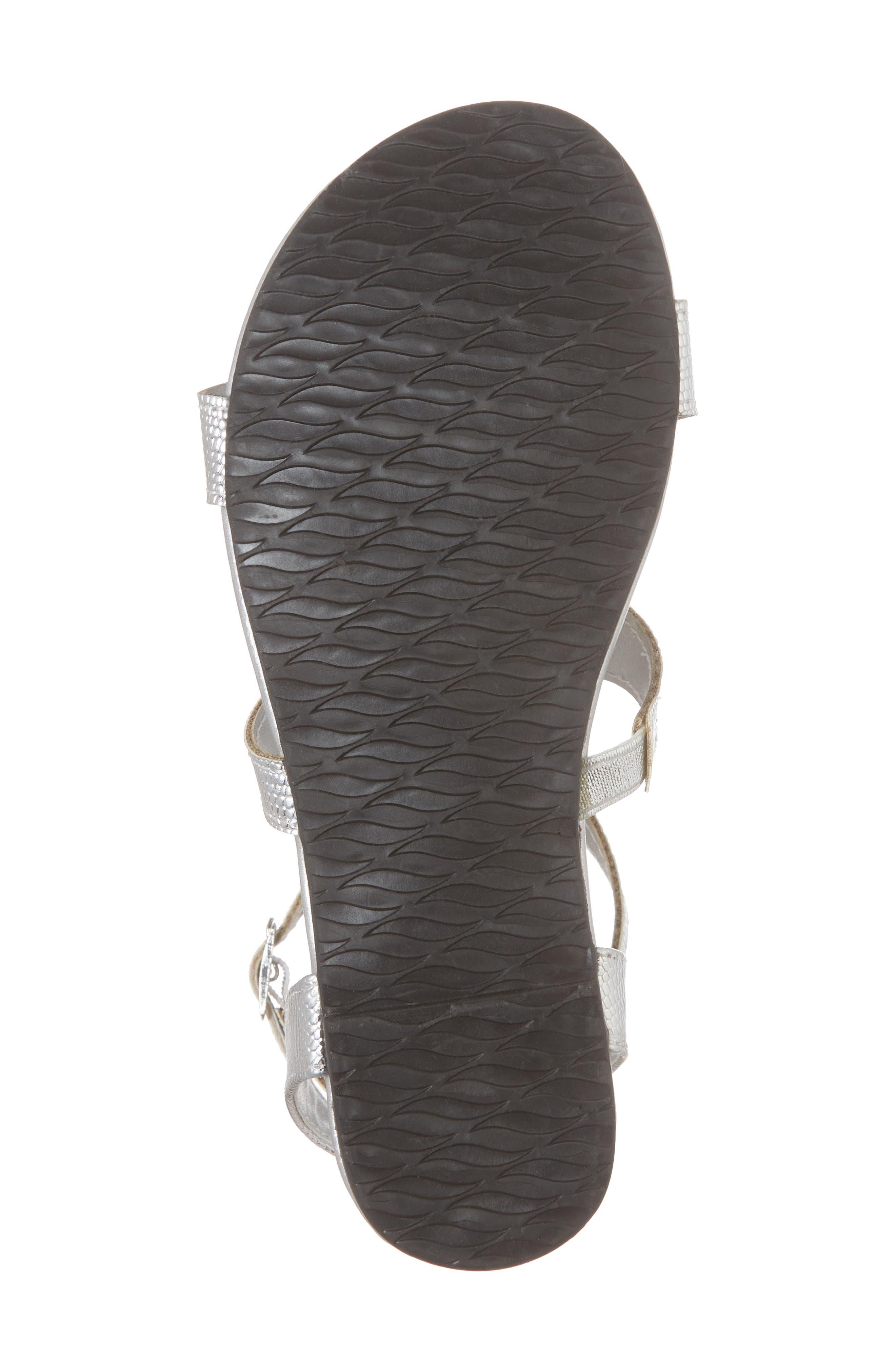 Reaction Kenneth Cole Kiera Soul Metallic Gladiator Sandal,                             Alternate thumbnail 6, color,                             Silver