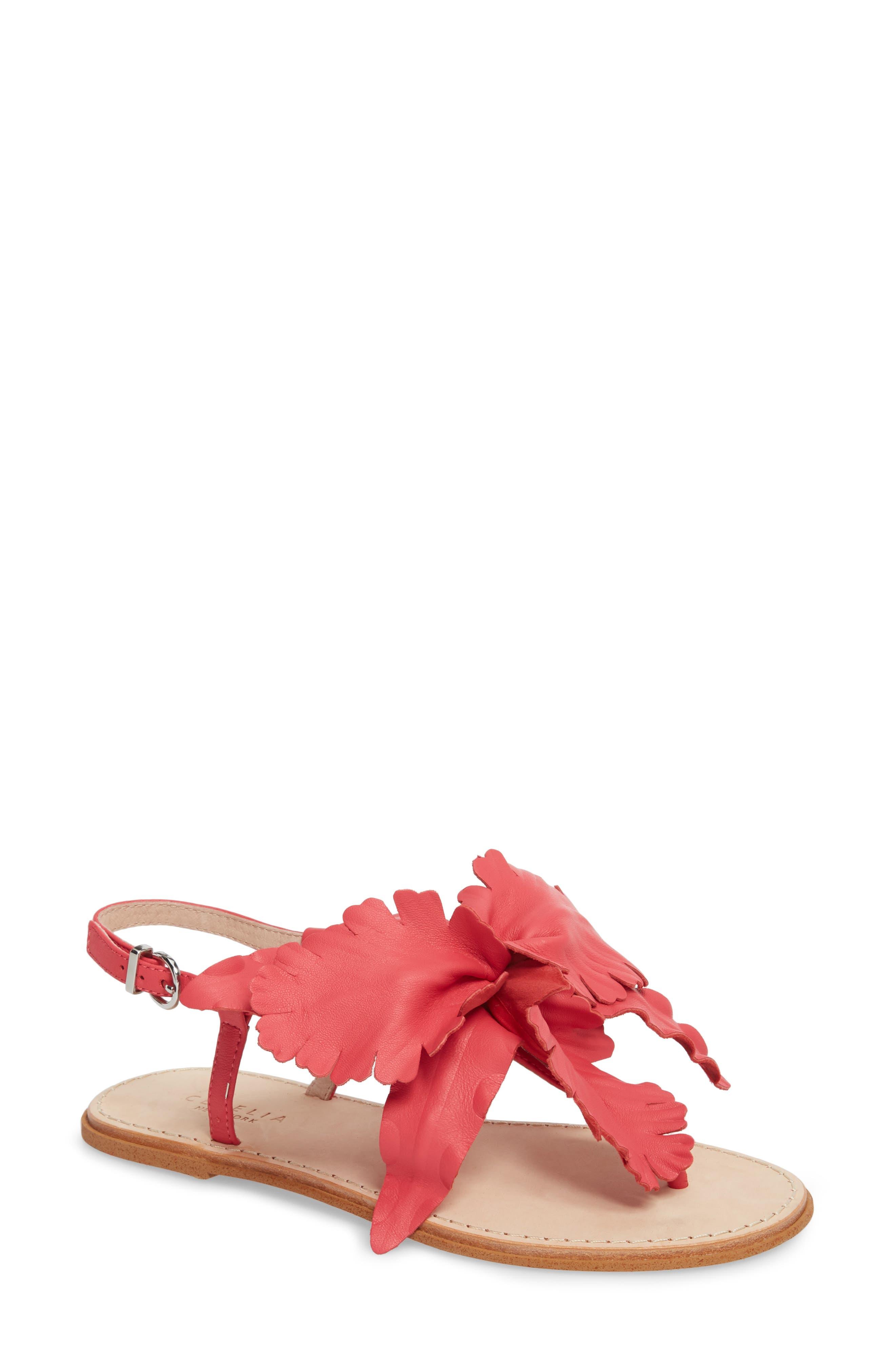 Peony Sandal,                         Main,                         color, Fuchsia Leather