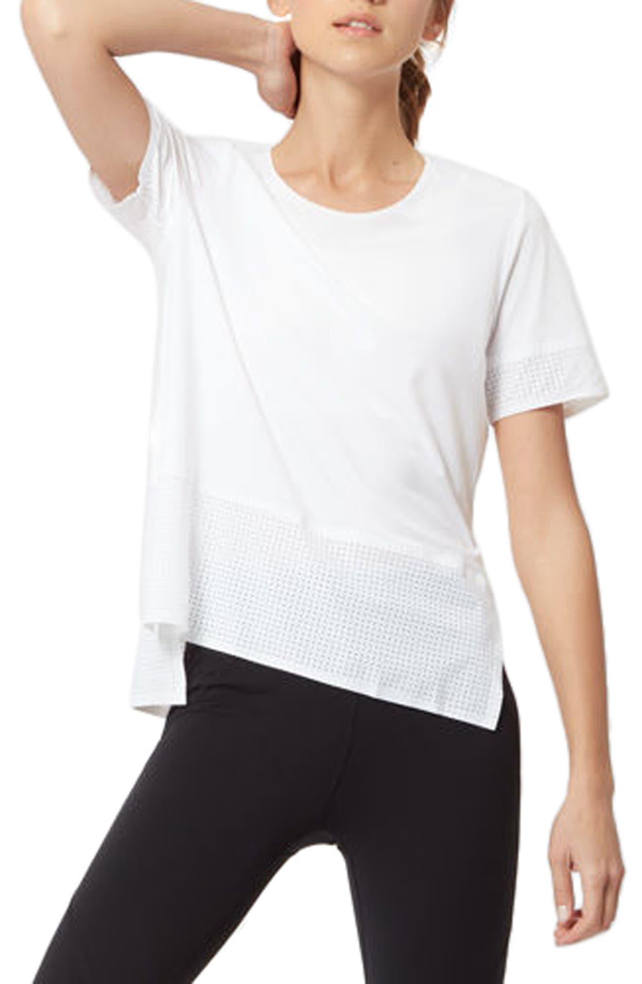 Breeze Short Sleeve Run Tee,                         Main,                         color, White
