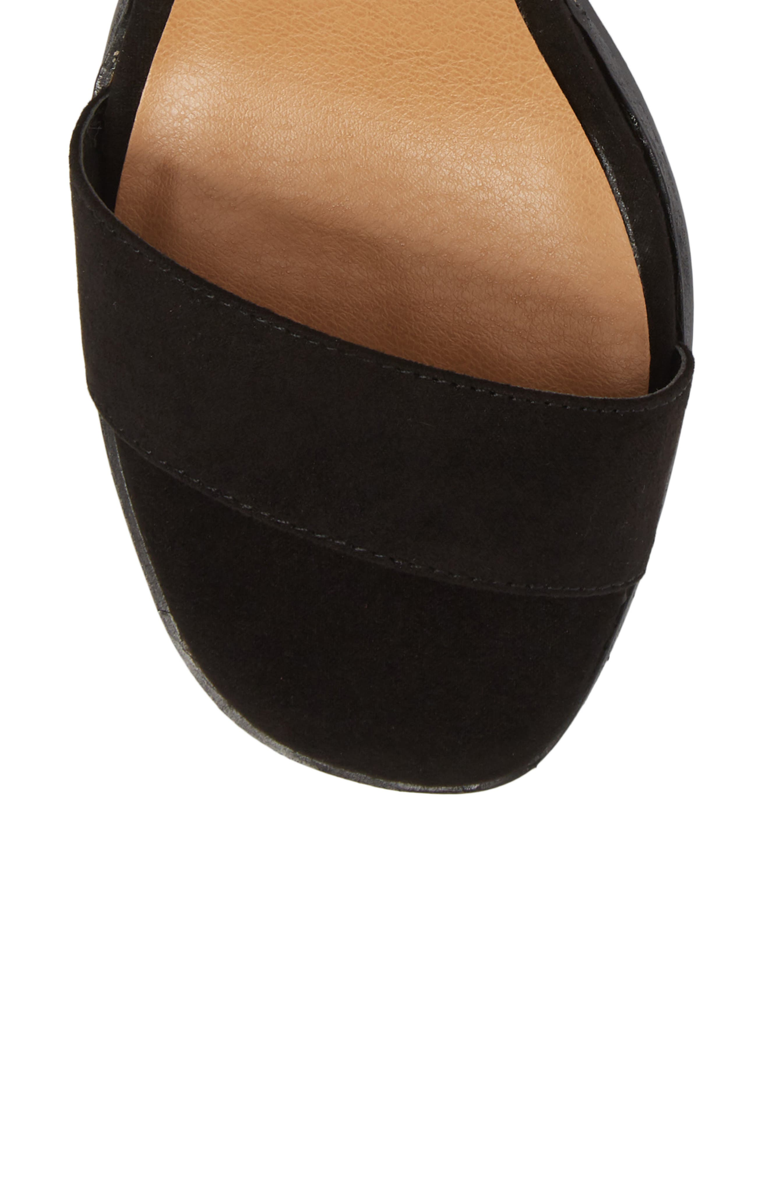 Stassi Block Heel Sandal,                             Alternate thumbnail 5, color,                             Black