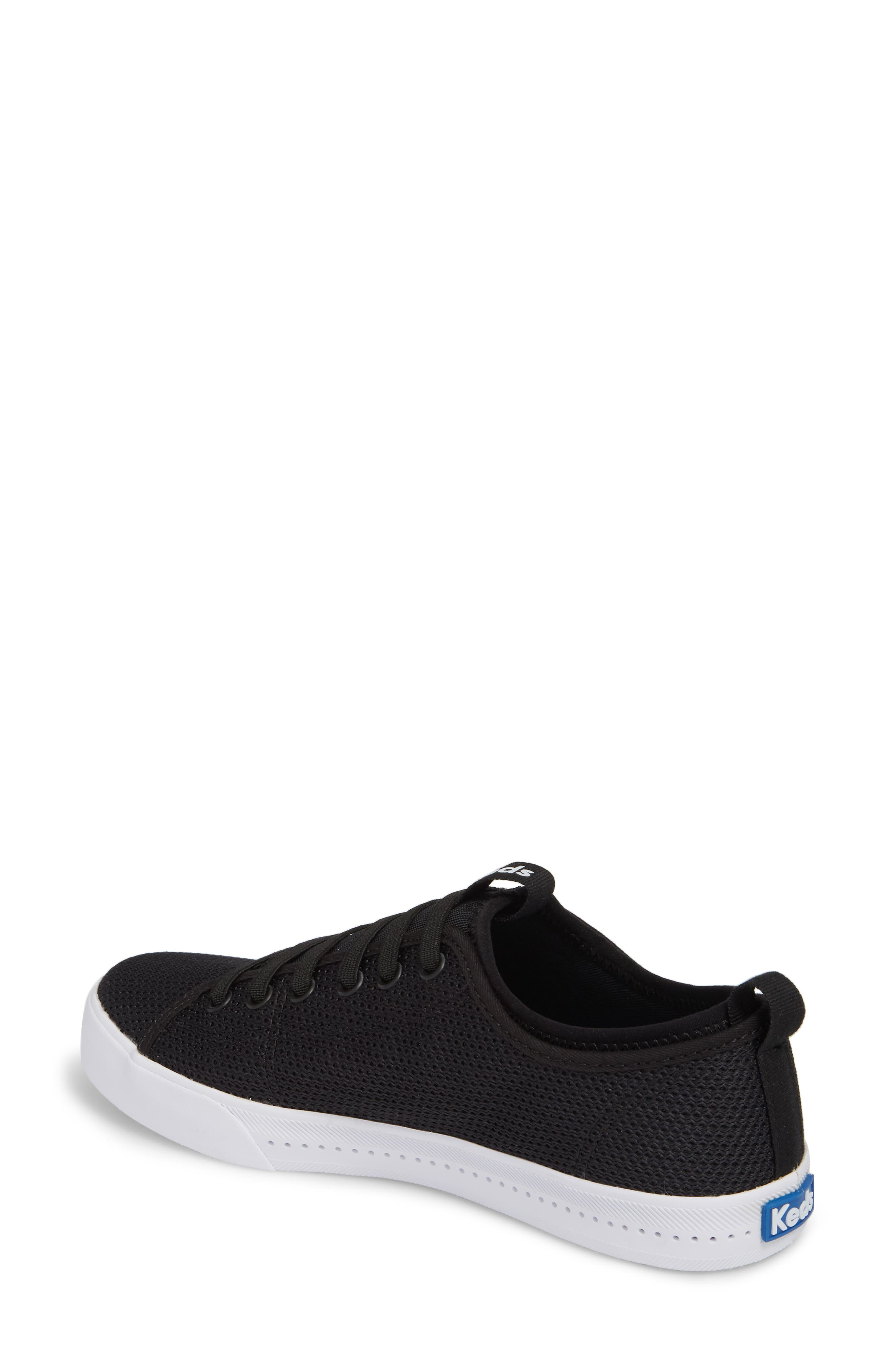 Driftkick Heathered Mesh Sneaker,                             Alternate thumbnail 2, color,                             Black