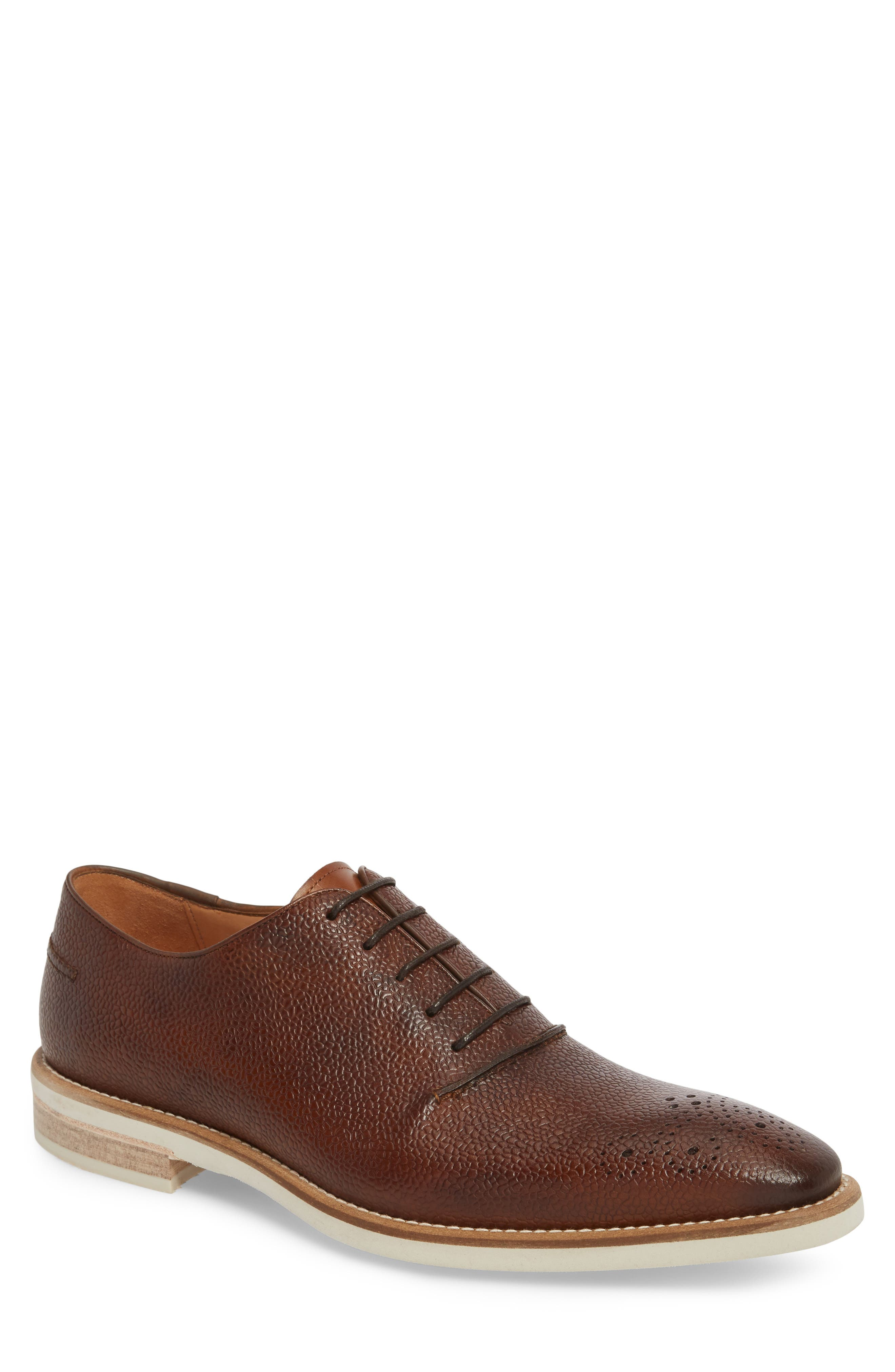 Polux Brogued Oxford,                         Main,                         color, Cognac Leather