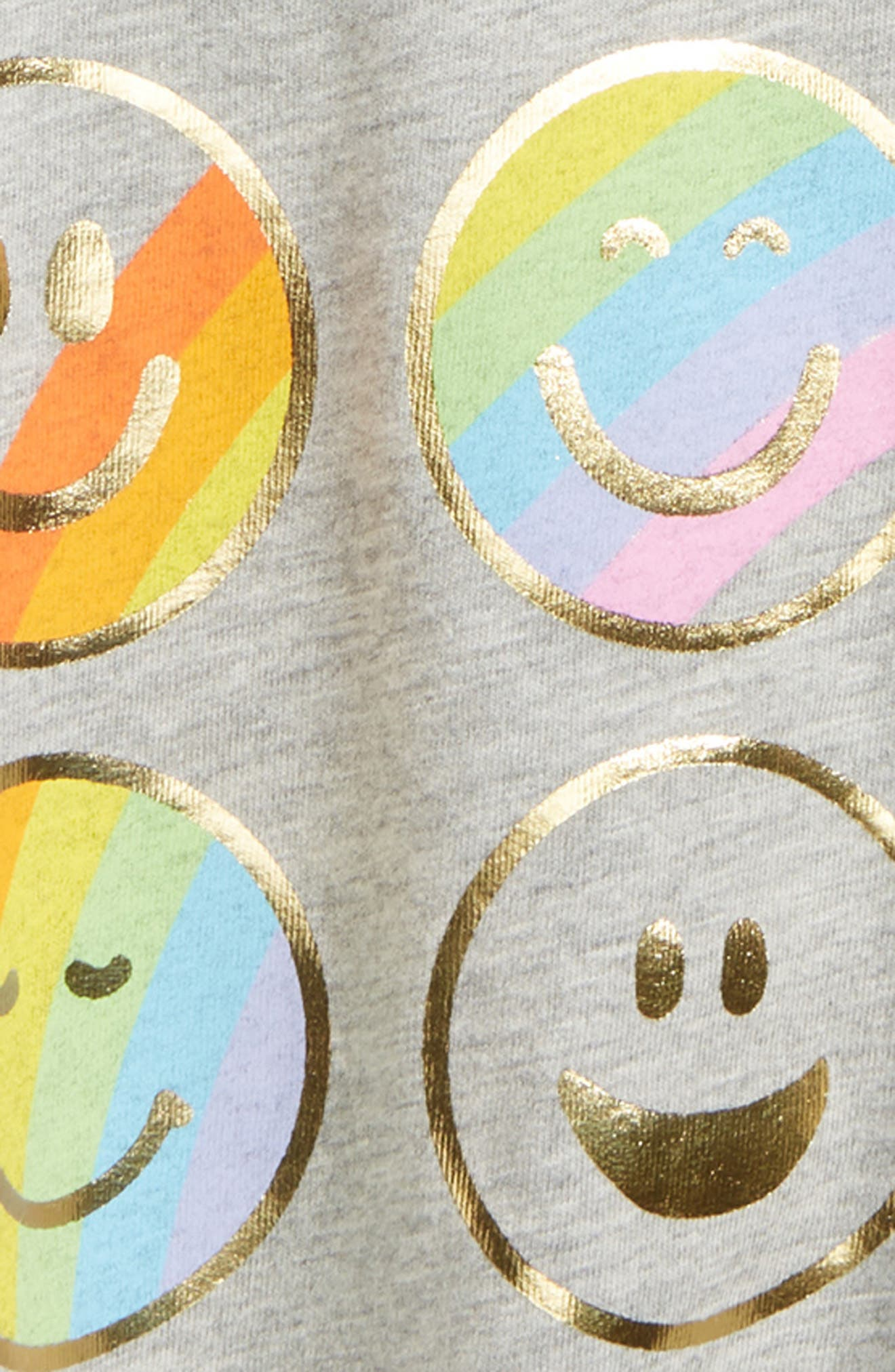 Emoticons Graphic Tee,                             Alternate thumbnail 2, color,                             Light Grey Heather