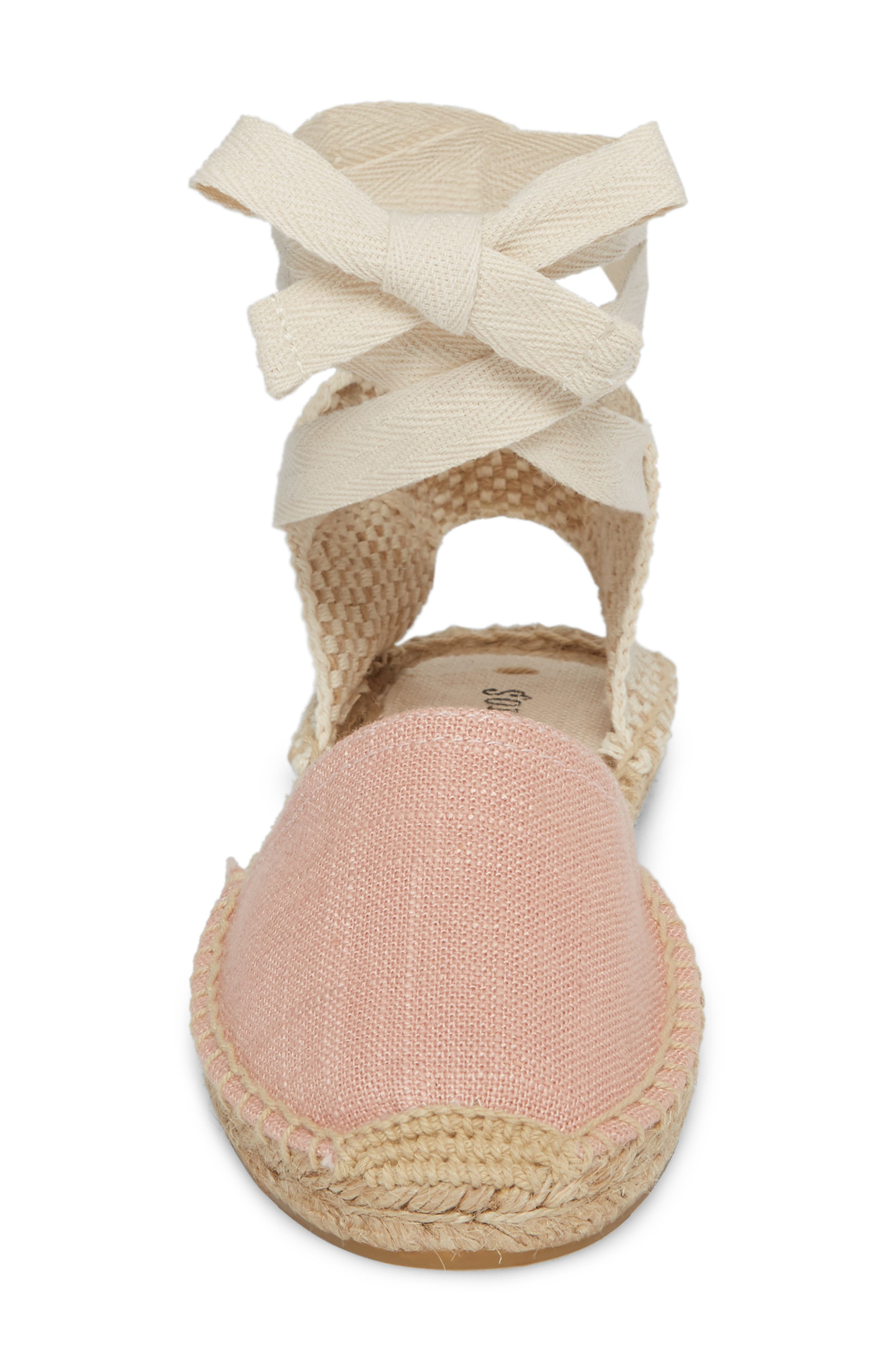 Classic Espadrille Sandal,                             Alternate thumbnail 4, color,                             Dusty Rose Fabric