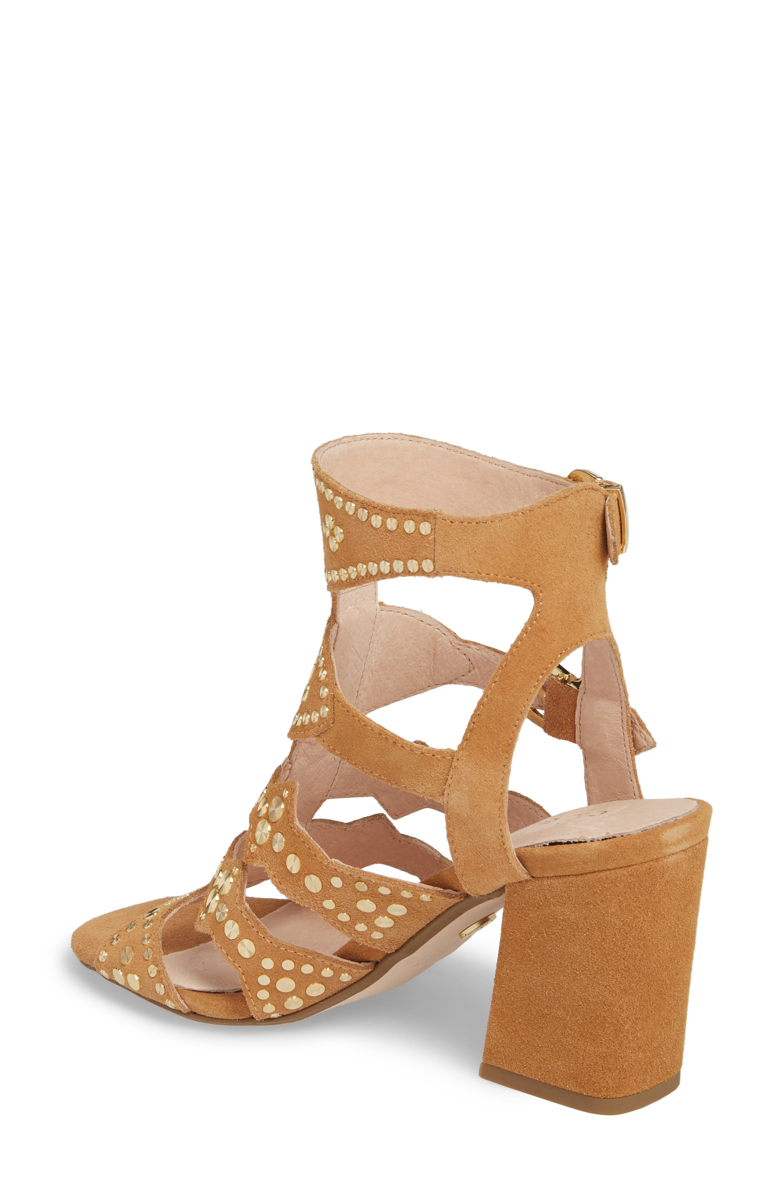 Cosmo Studded Sandal,                             Alternate thumbnail 2, color,                             Sand Suede