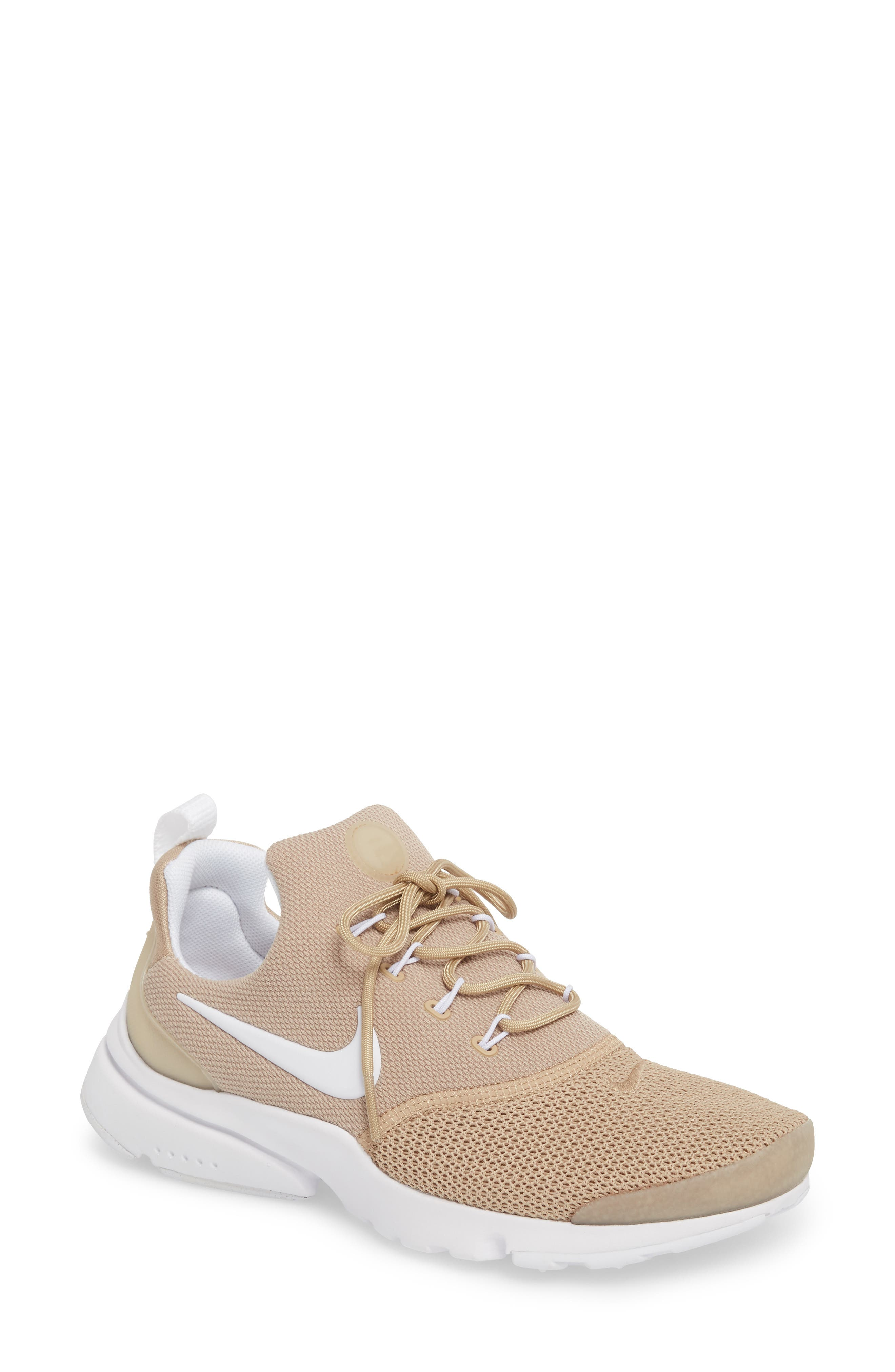 Presto Fly Sneaker,                         Main,                         color, Sand/ White