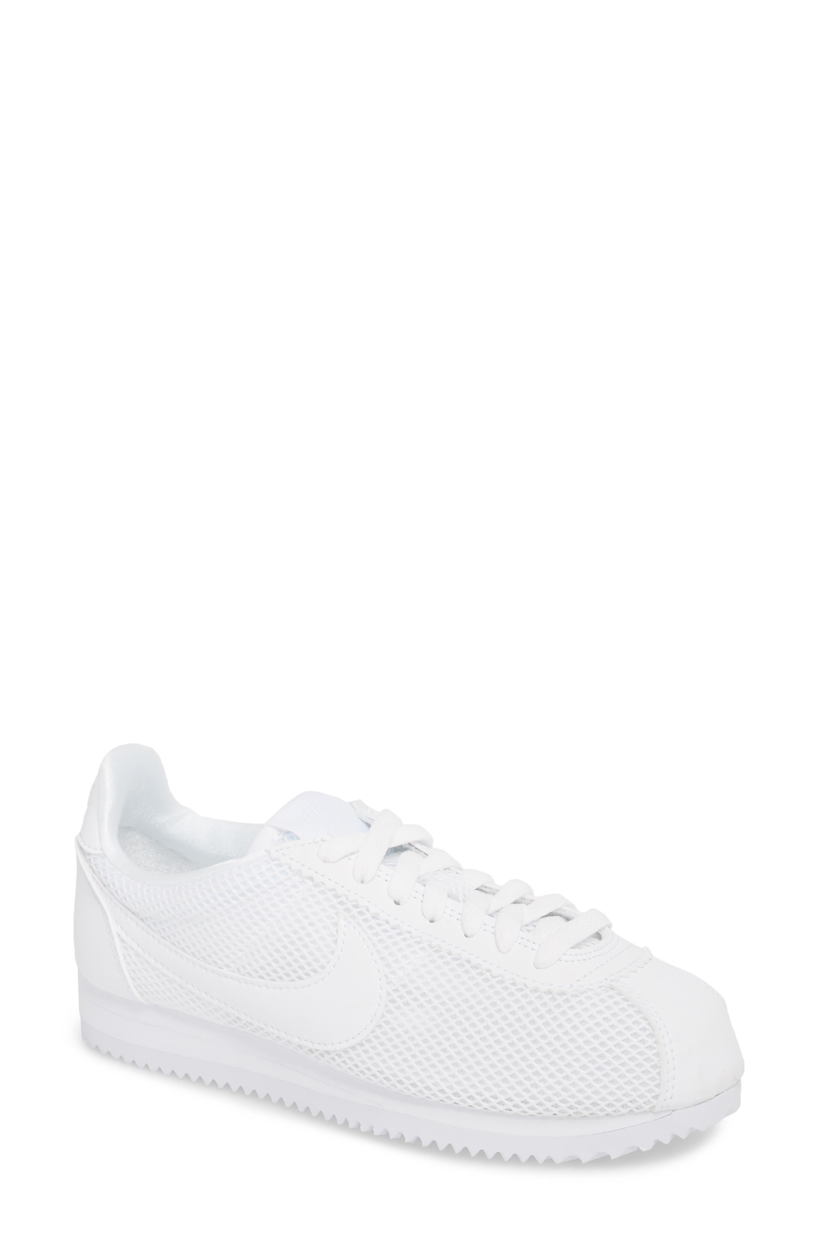 Classic Cortez Premium XLV Sneaker,                         Main,                         color, White/ White