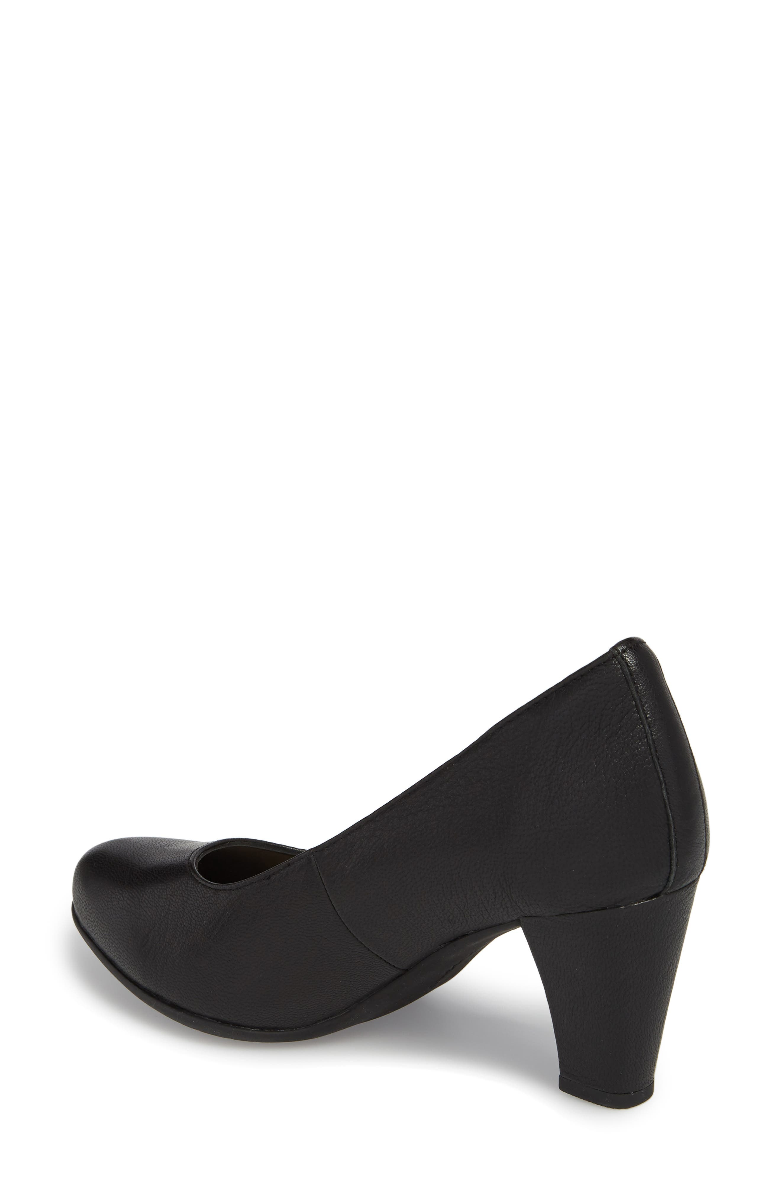 Minam Meaghan Pump,                             Alternate thumbnail 2, color,                             Black Leather