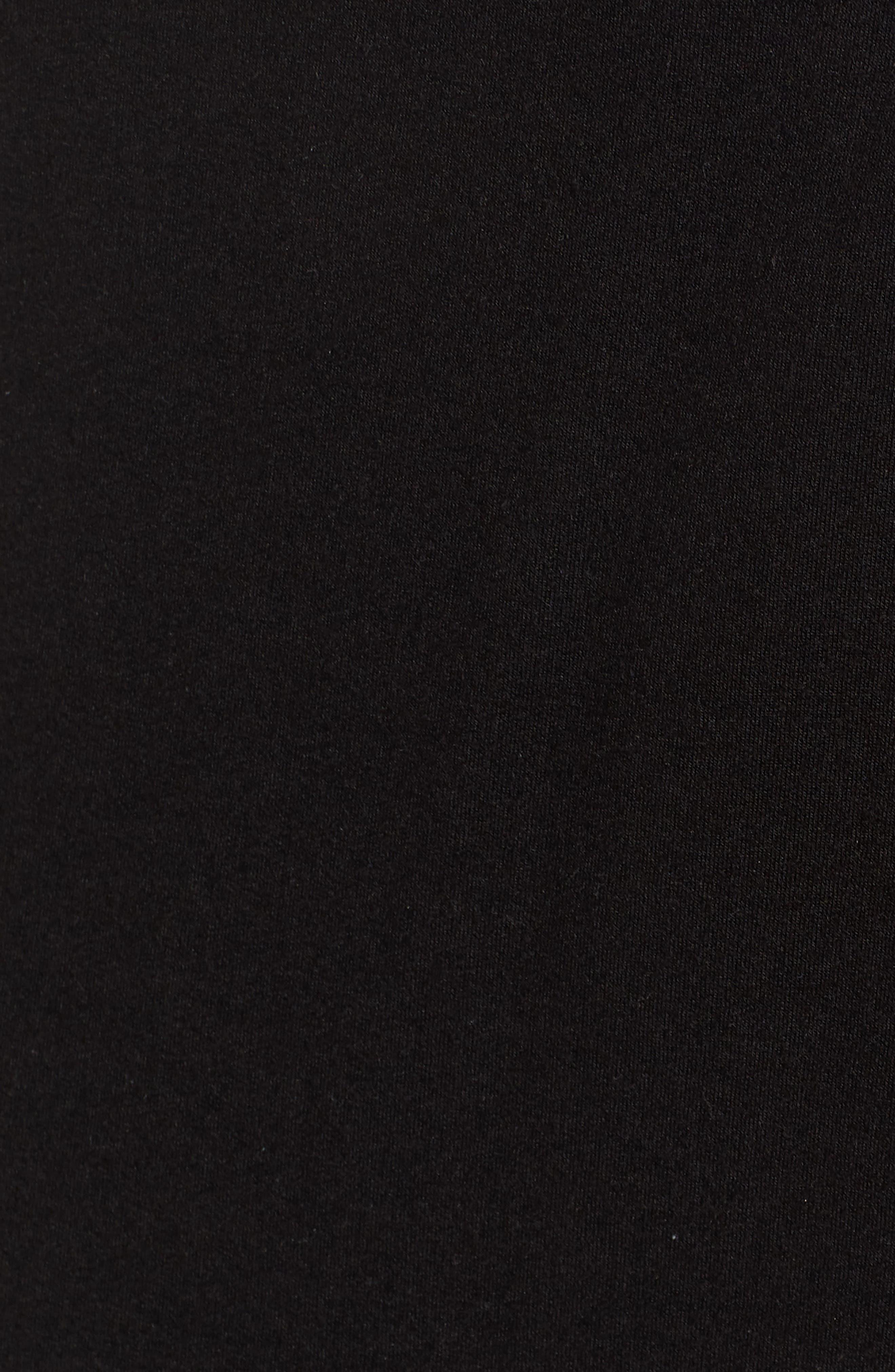 Faux Wrap Skirt,                             Alternate thumbnail 6, color,                             Black