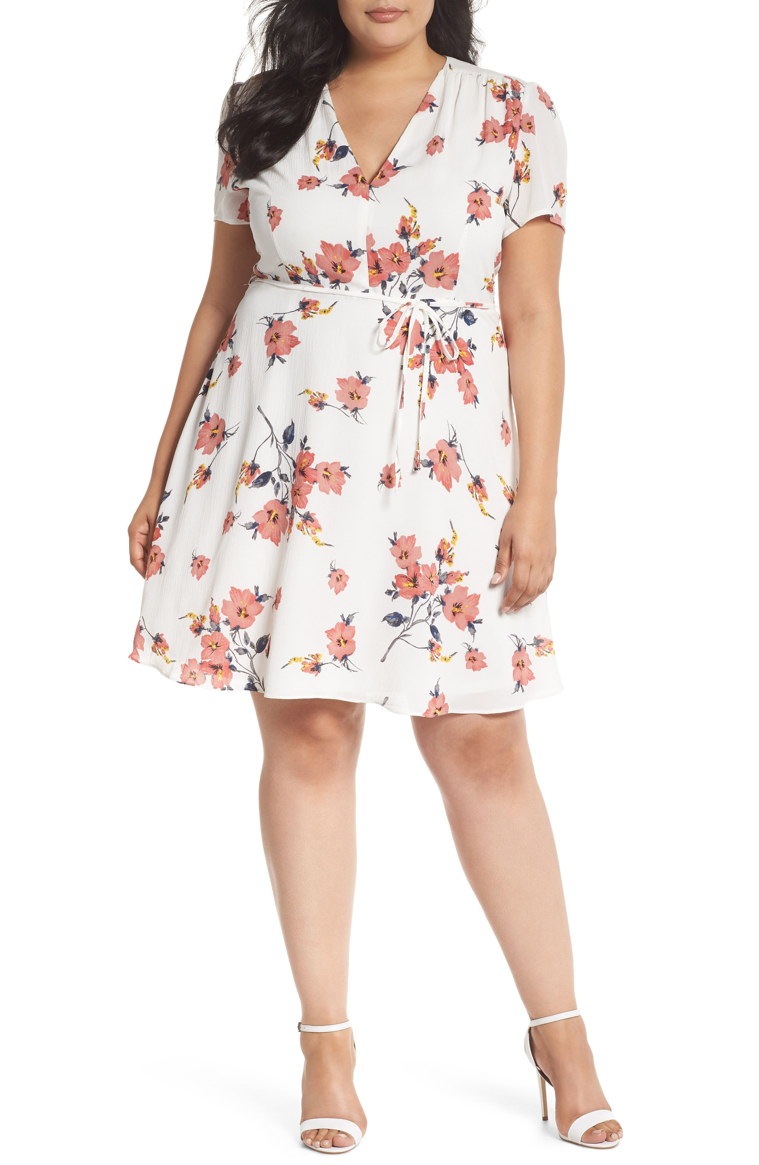 Glamorous Floral Skater Dress (Plus Size)