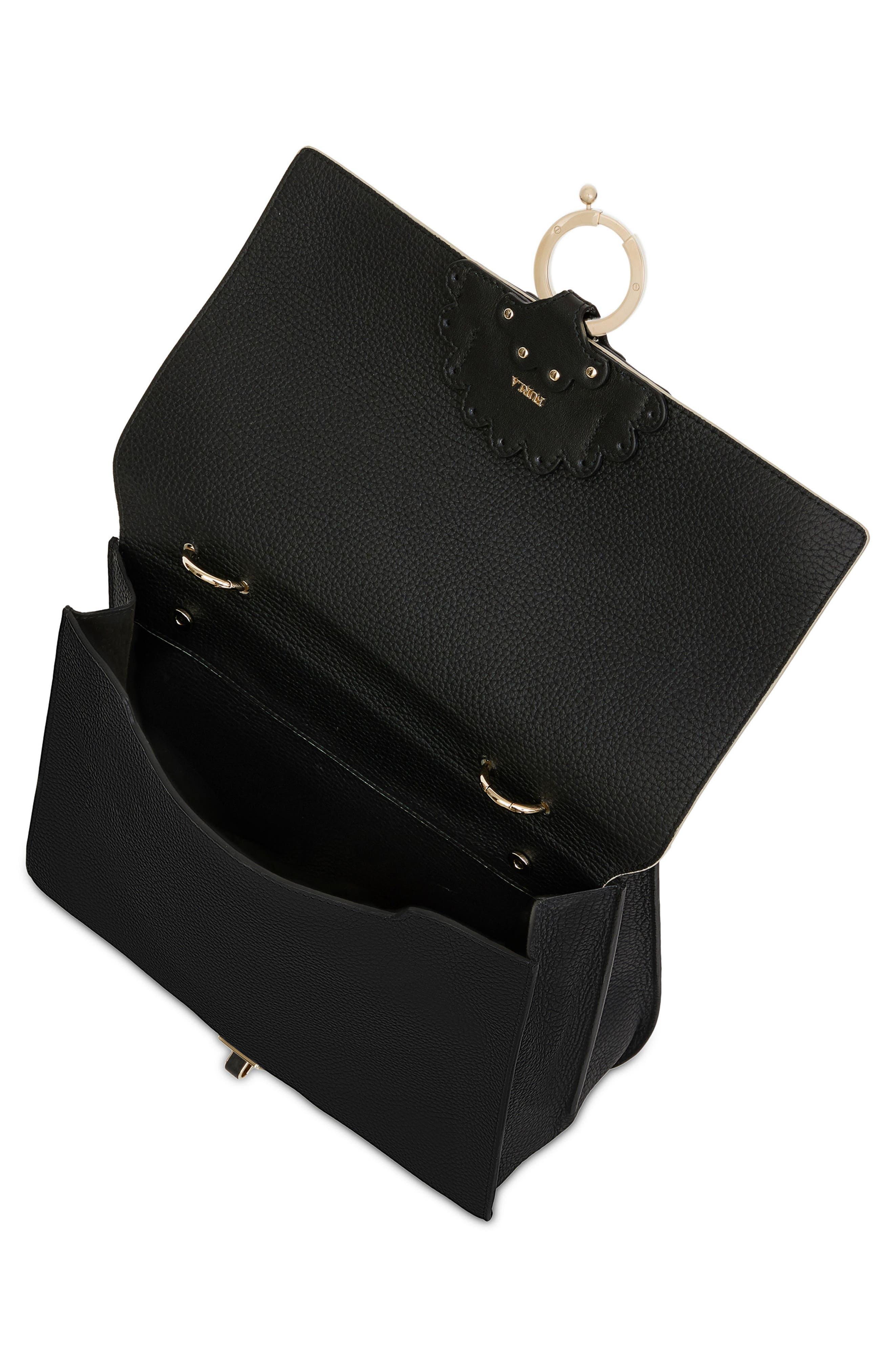 Scoop Leather Shoulder Bag,                             Alternate thumbnail 2, color,                             Onyx+Vaniglia D