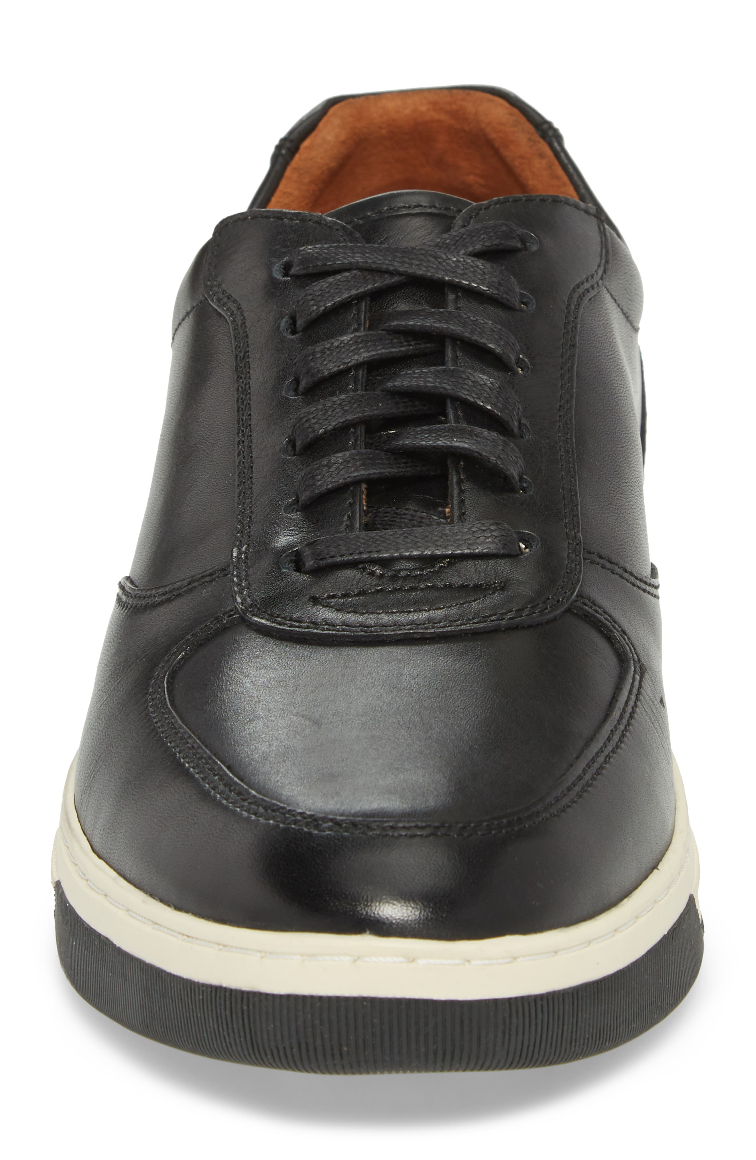 Fenton Low Top Sneaker,                             Alternate thumbnail 4, color,                             Black Leather