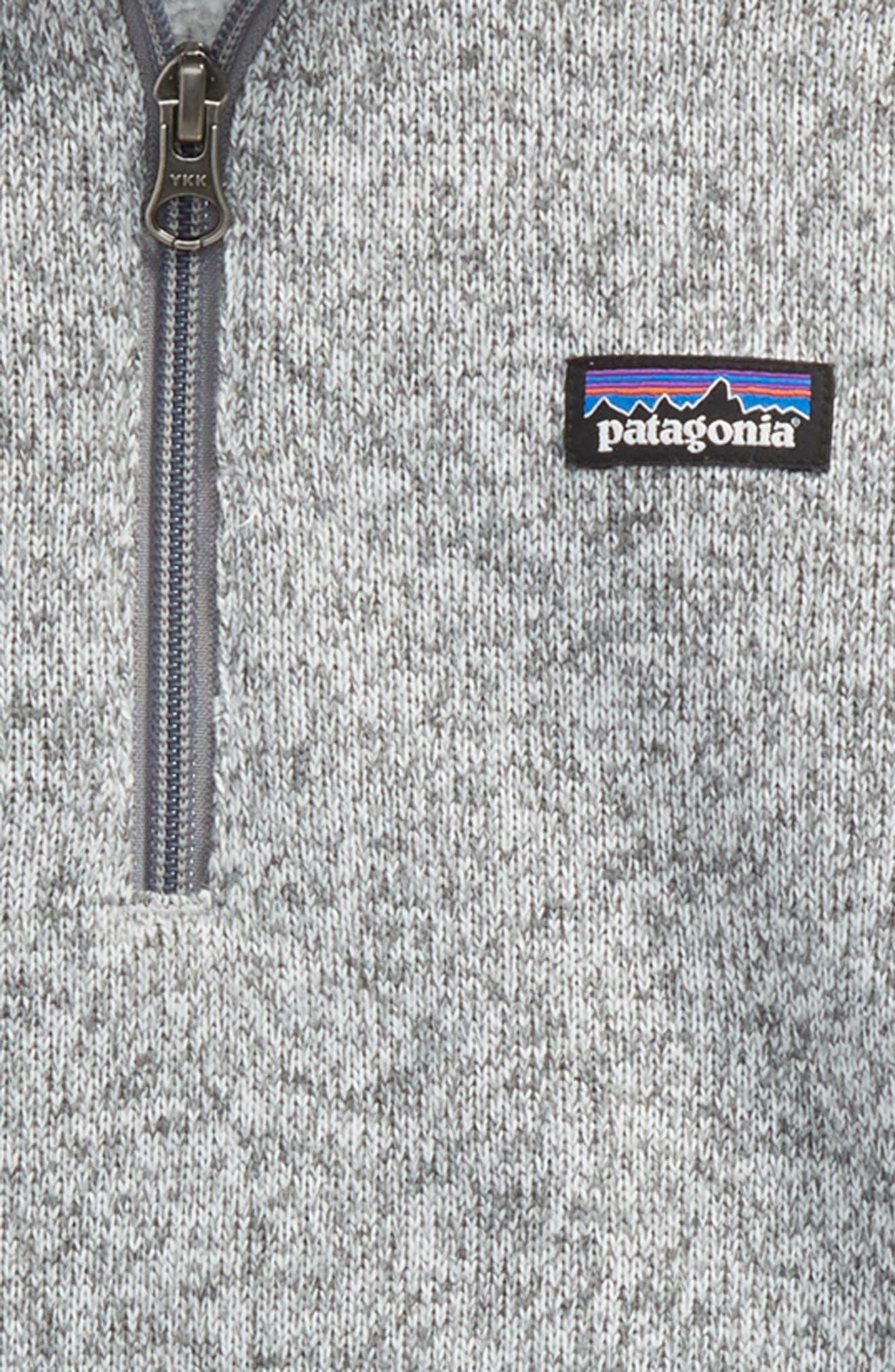 Better Sweater Quarter Zip Pullover,                             Alternate thumbnail 2, color,                             Birch White