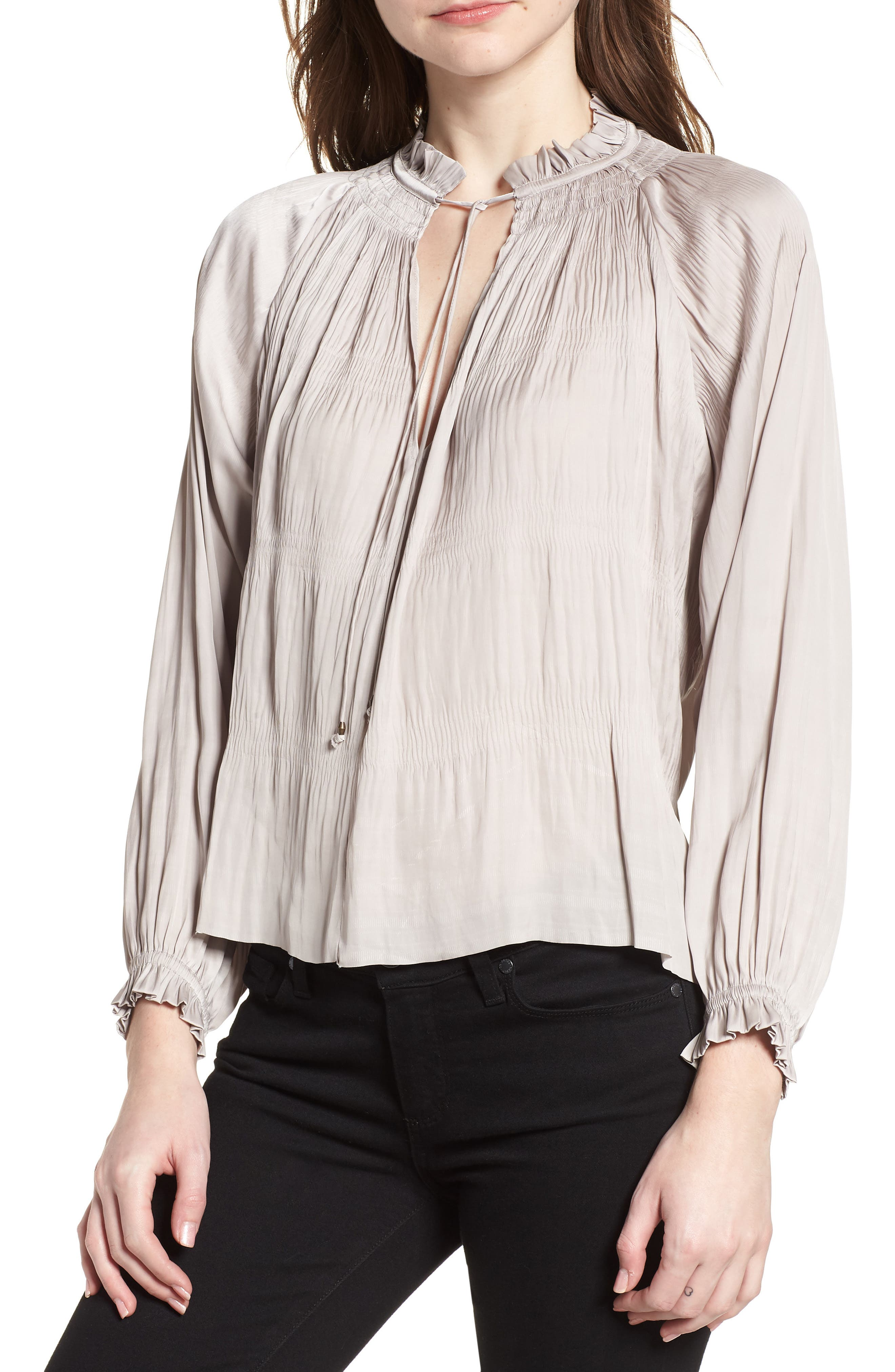 Brooklyn Blouse,                         Main,                         color, Light Grey