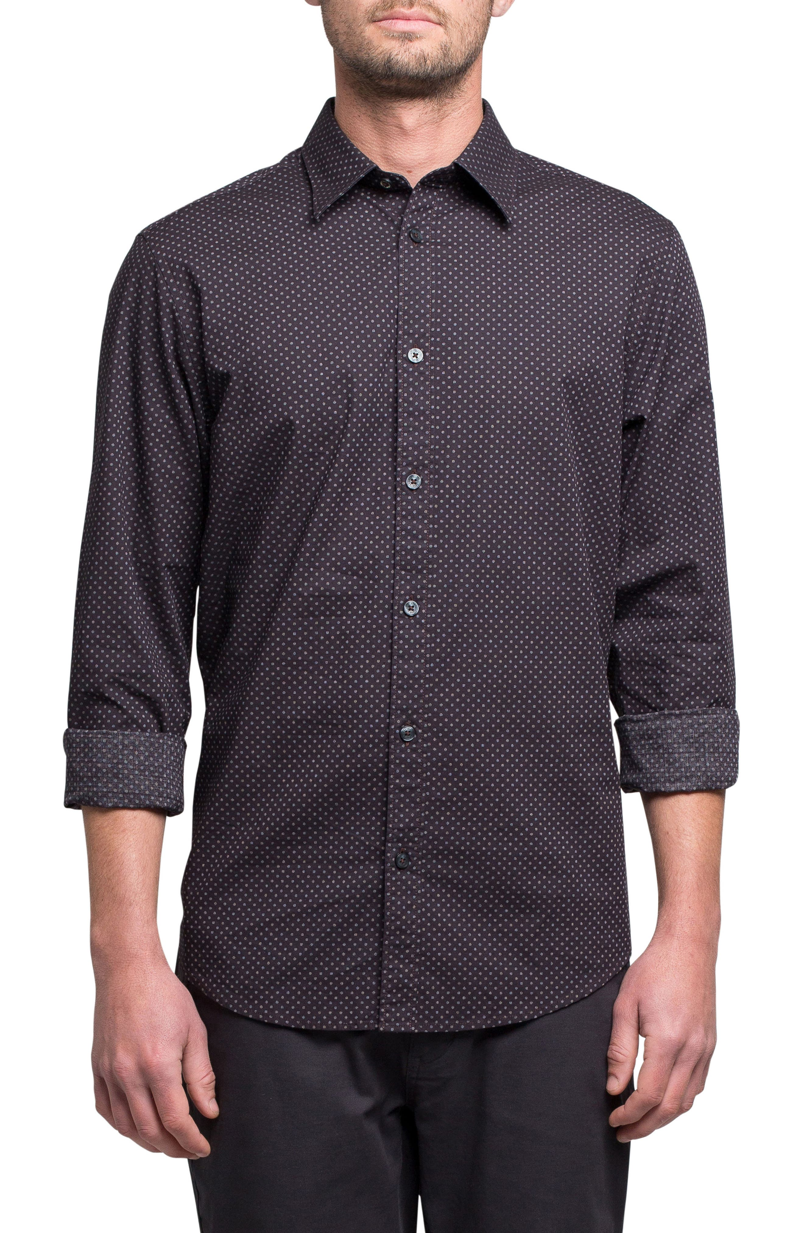 Textured Shirt,                         Main,                         color, Wine