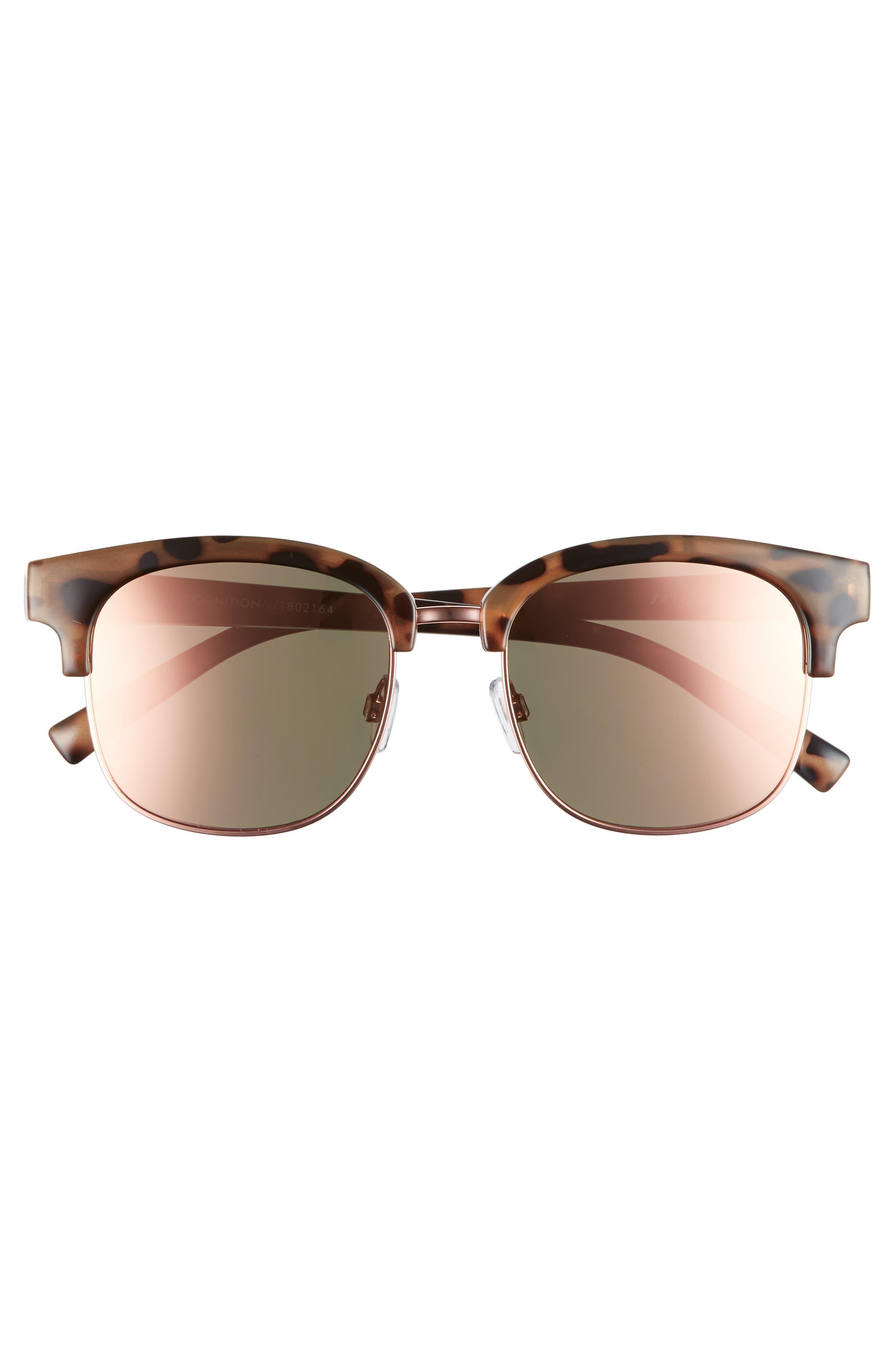 Recognition 53mm Sunglasses,                             Alternate thumbnail 3, color,                             Apricot Tortoise