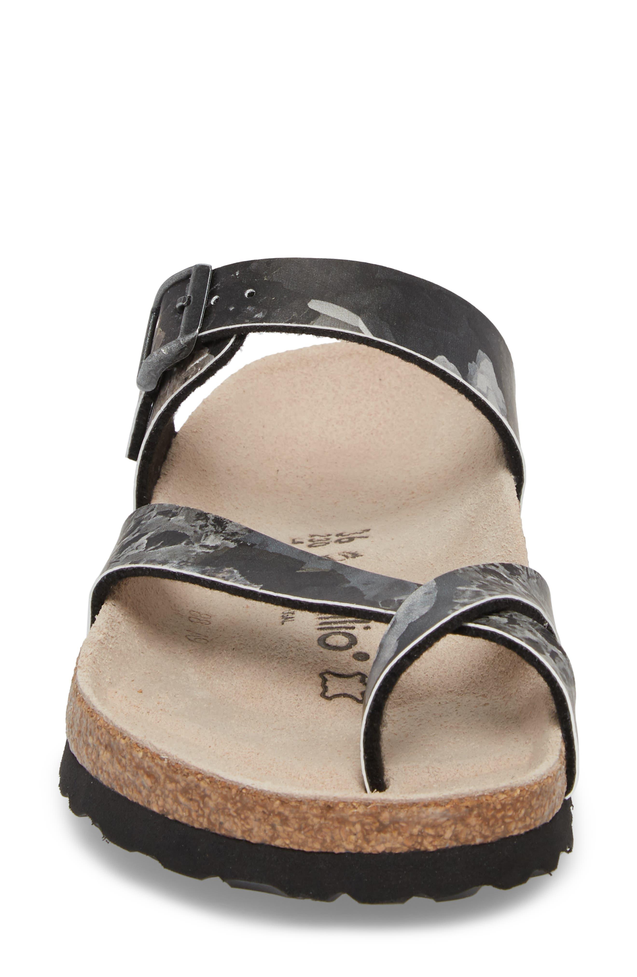 Papillio by Birkenstock Tabora Birko-Flor Slide Sandal,                             Alternate thumbnail 4, color,                             Crystal Black Leather