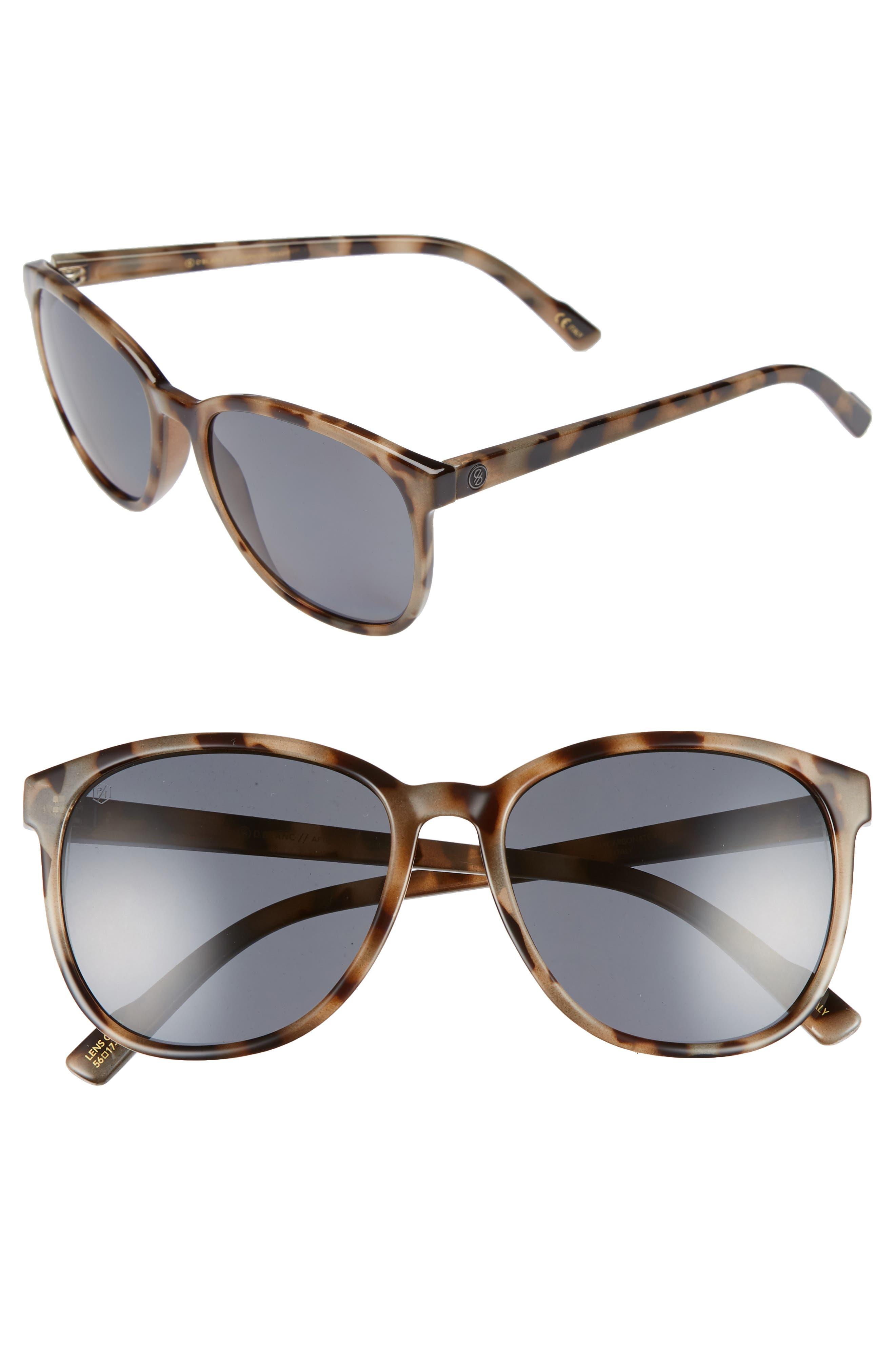 D'BLANC Afternoon Delight 56mm Polarized Sunglasses,                         Main,                         color, Snow Leopard/ Grey Polar