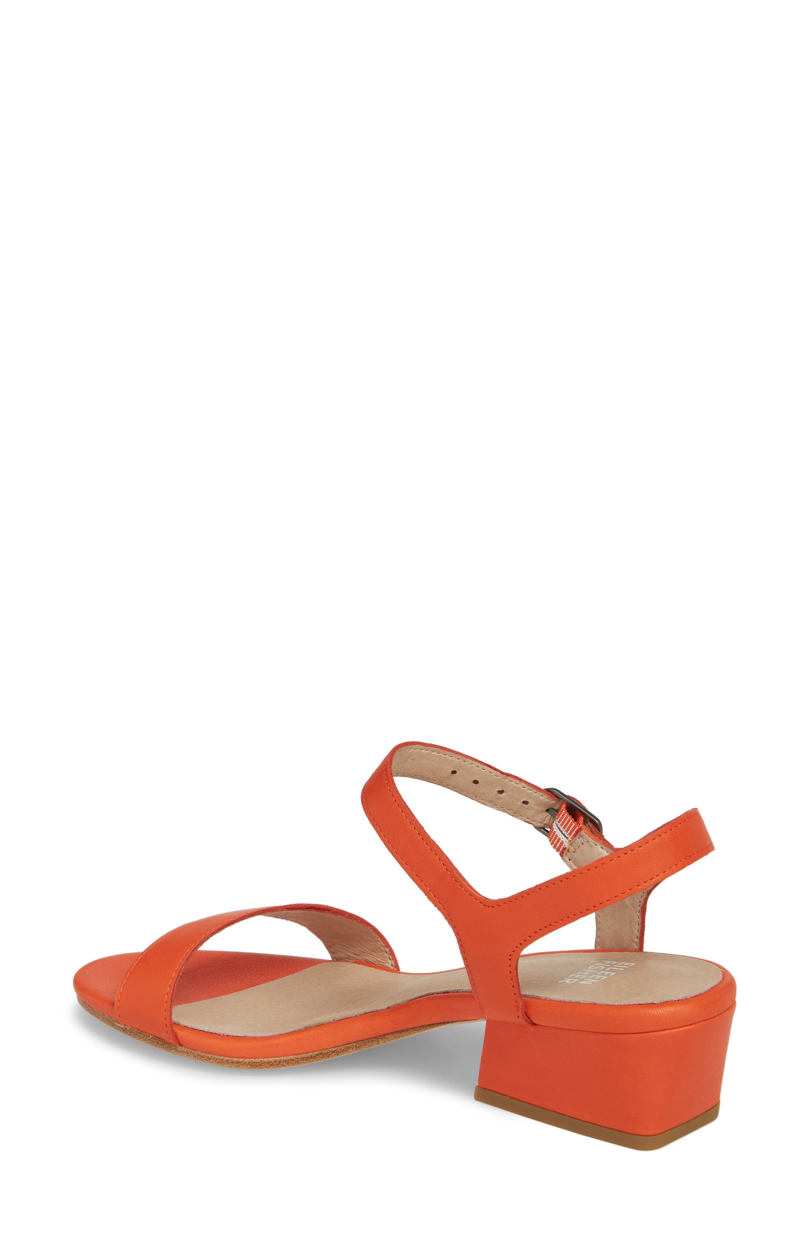 Olean Quarter Strap Sandal,                             Alternate thumbnail 2, color,                             Blood Orange Leather