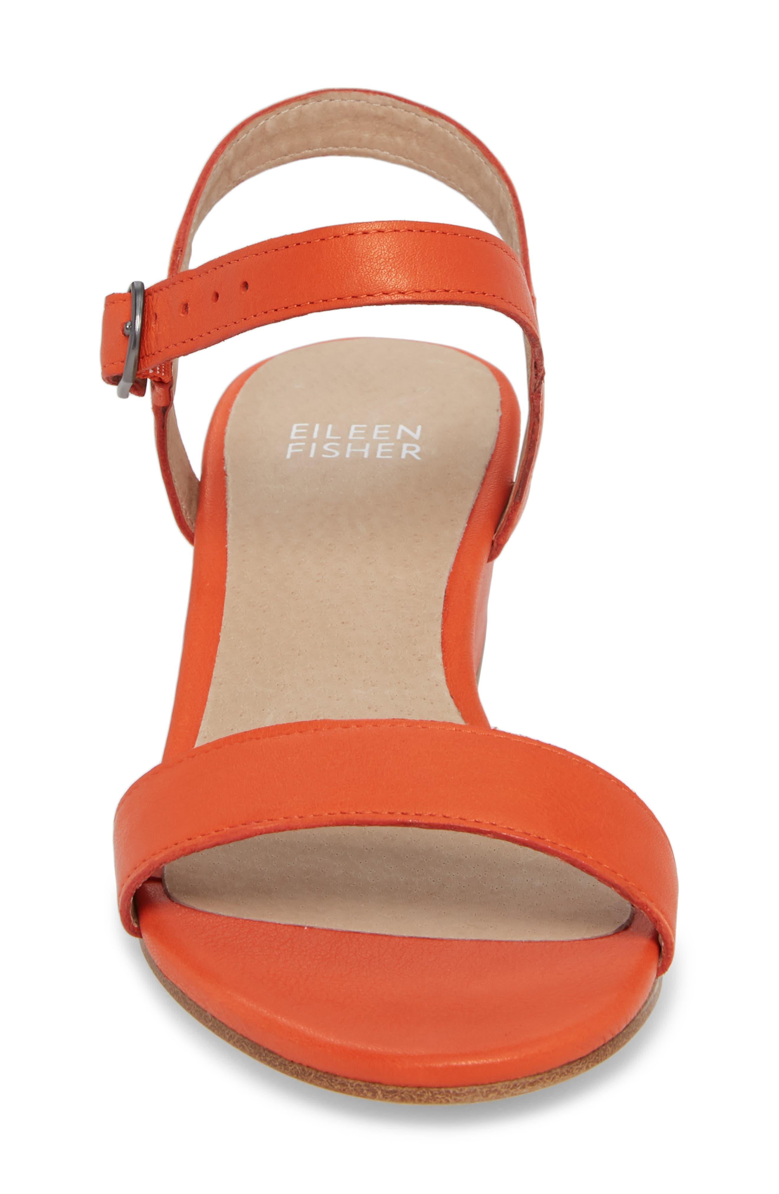 Olean Quarter Strap Sandal,                             Alternate thumbnail 4, color,                             Blood Orange Leather