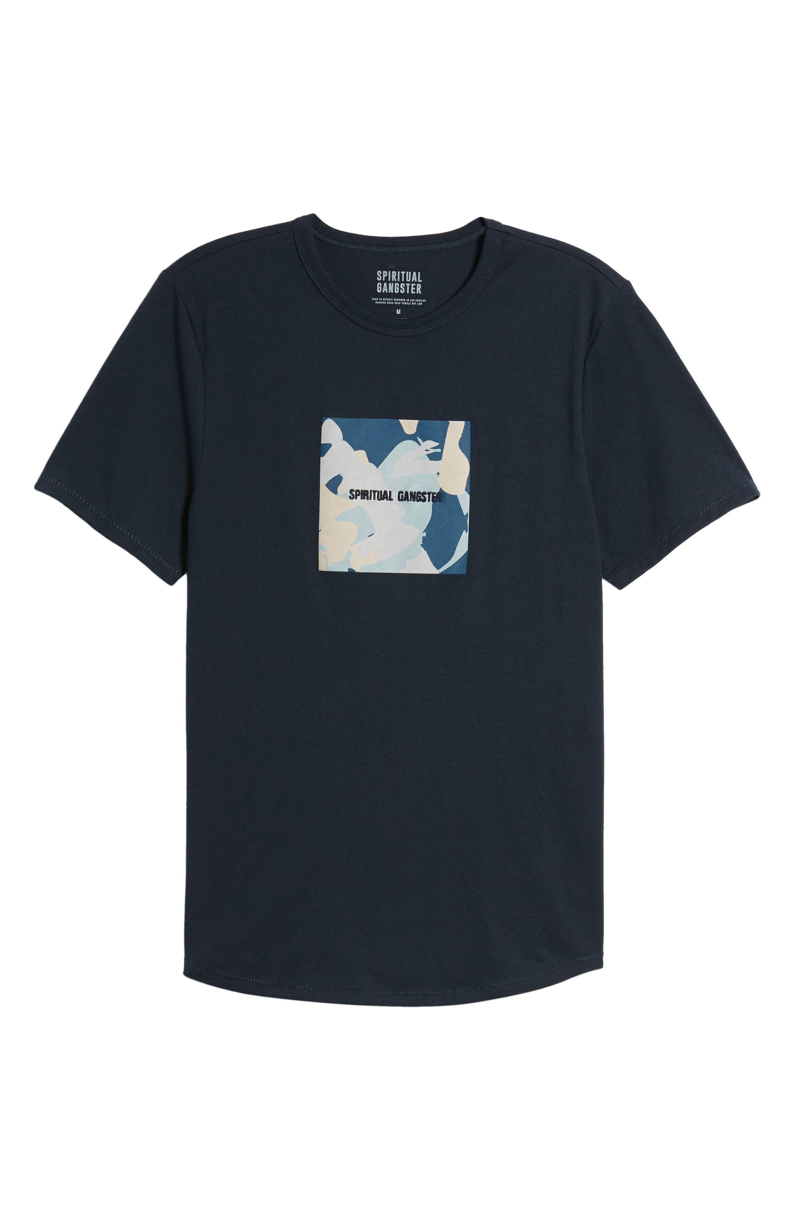 Nirvana Camo T-Shirt,                             Alternate thumbnail 6, color,                             Salute/ Navy