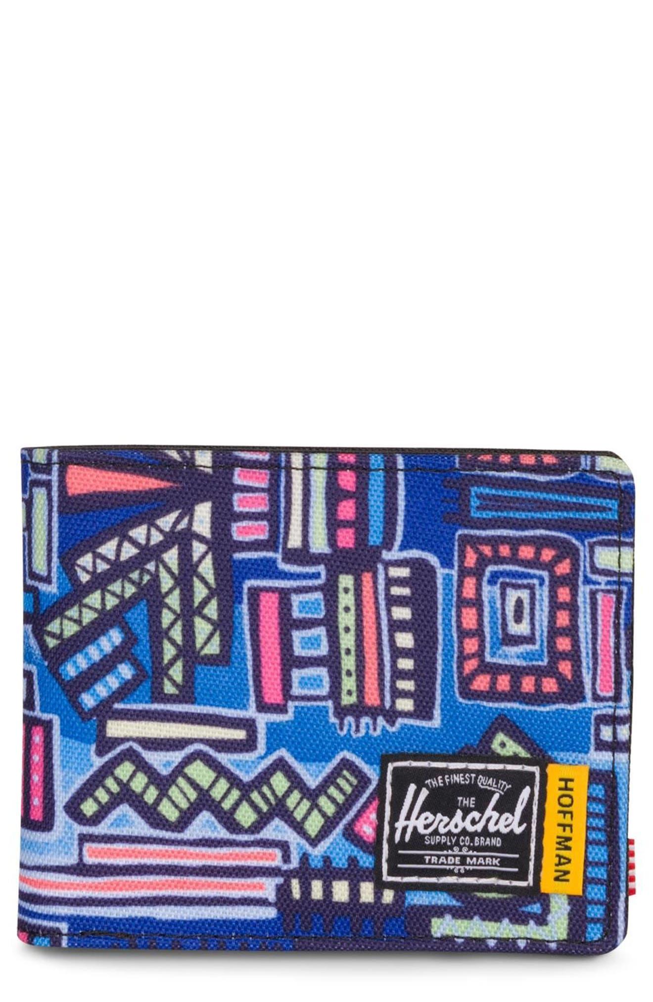 Hoffman Roy Wallet,                             Main thumbnail 1, color,                             Abstract Geo
