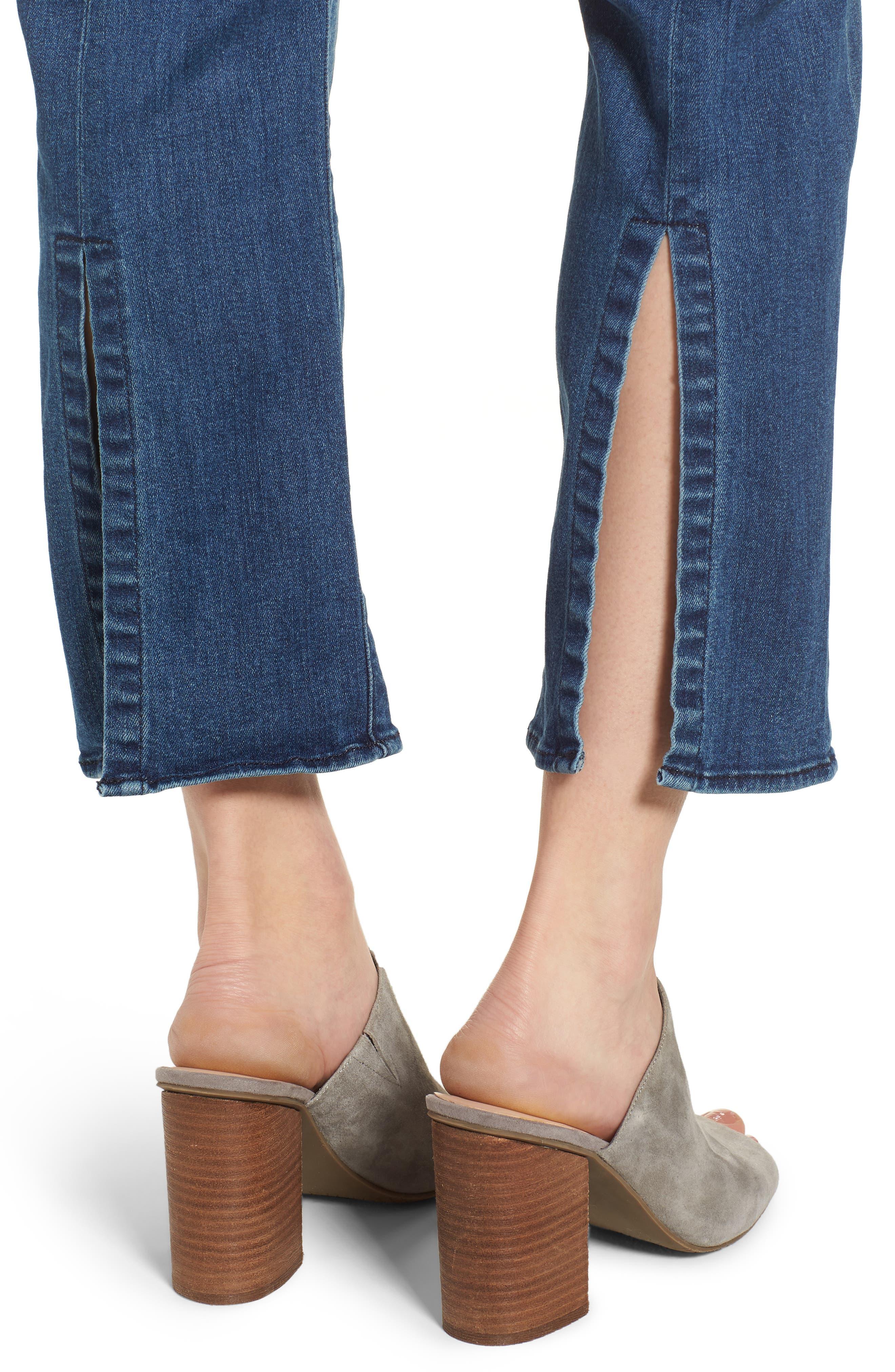 Split Back Crop Jeans,                             Alternate thumbnail 4, color,                             Ventura