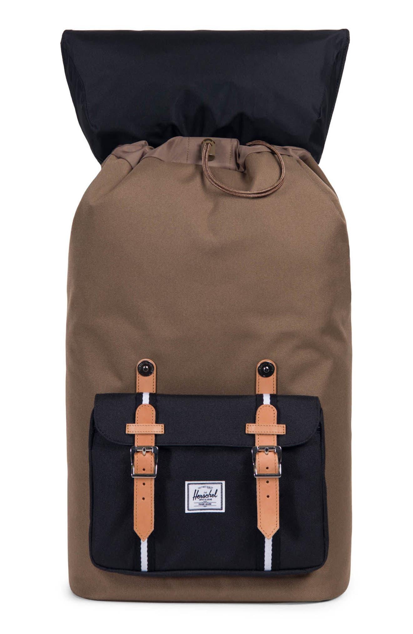 Little America Offset Stripe Backpack,                             Alternate thumbnail 3, color,                             Cub/ Black/ White