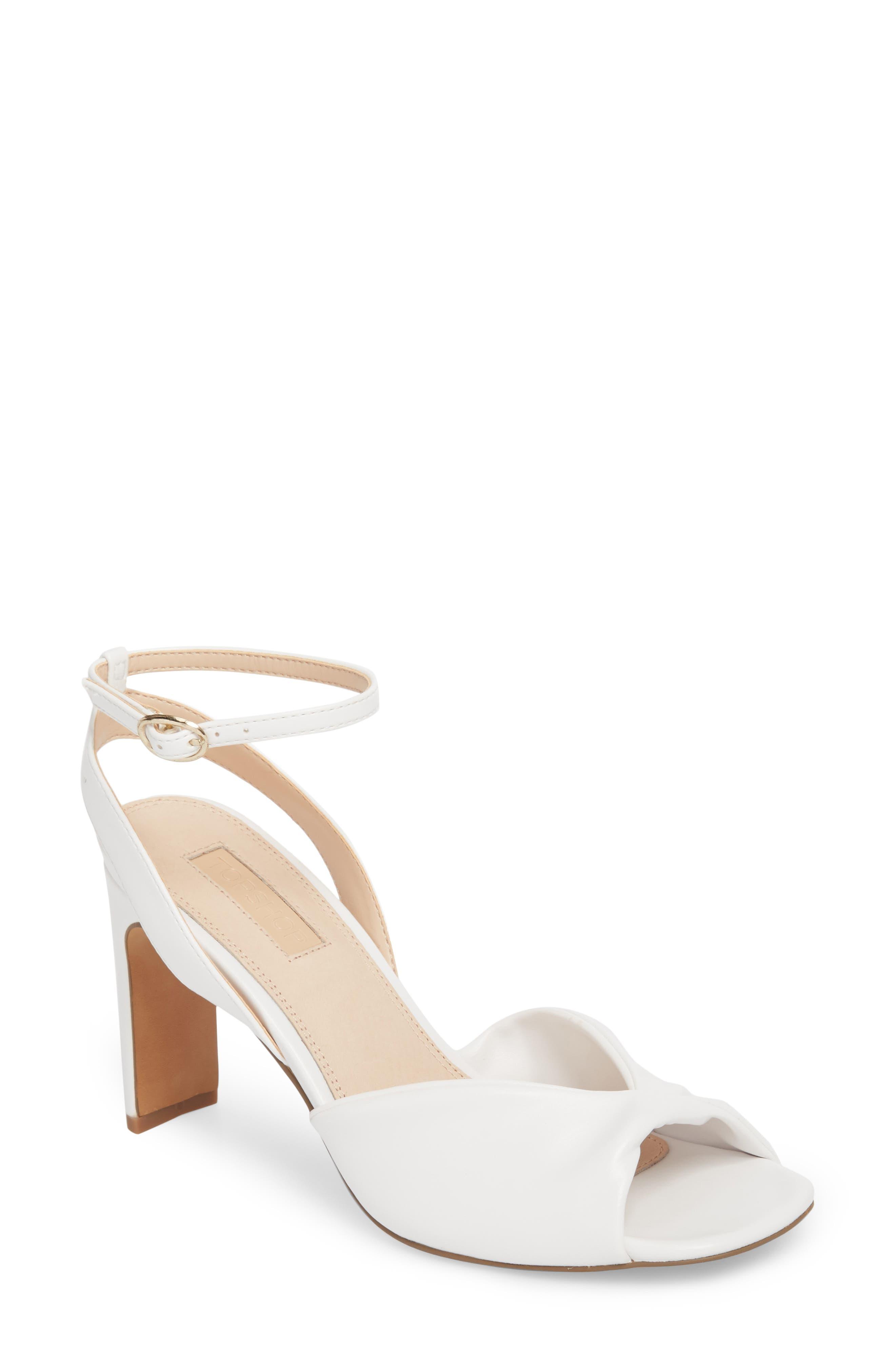 Raven Skinny Heel Sandal,                         Main,                         color, White
