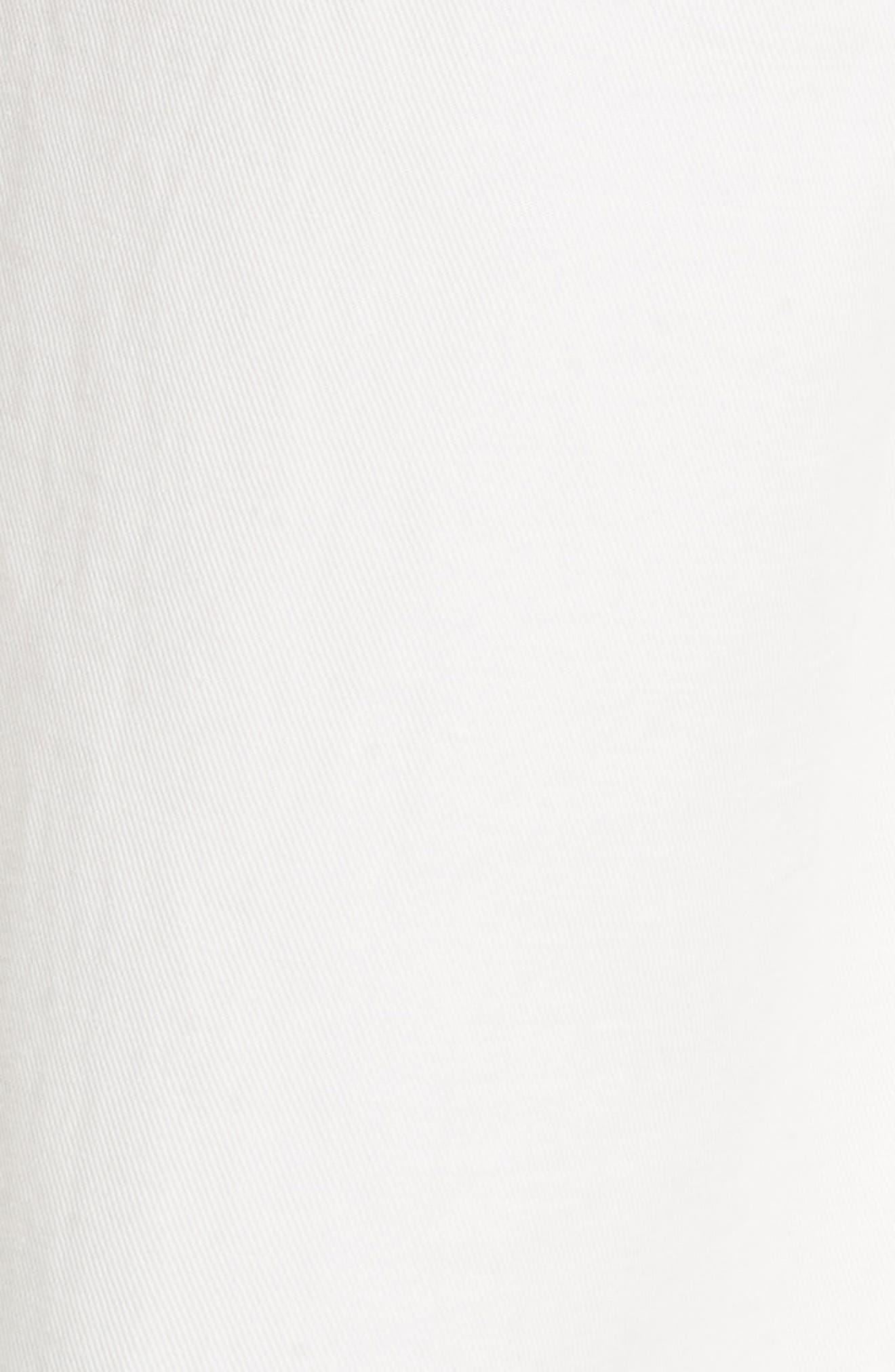 High Rise Linen Cotton Crop Pants,                             Alternate thumbnail 5, color,                             Off White