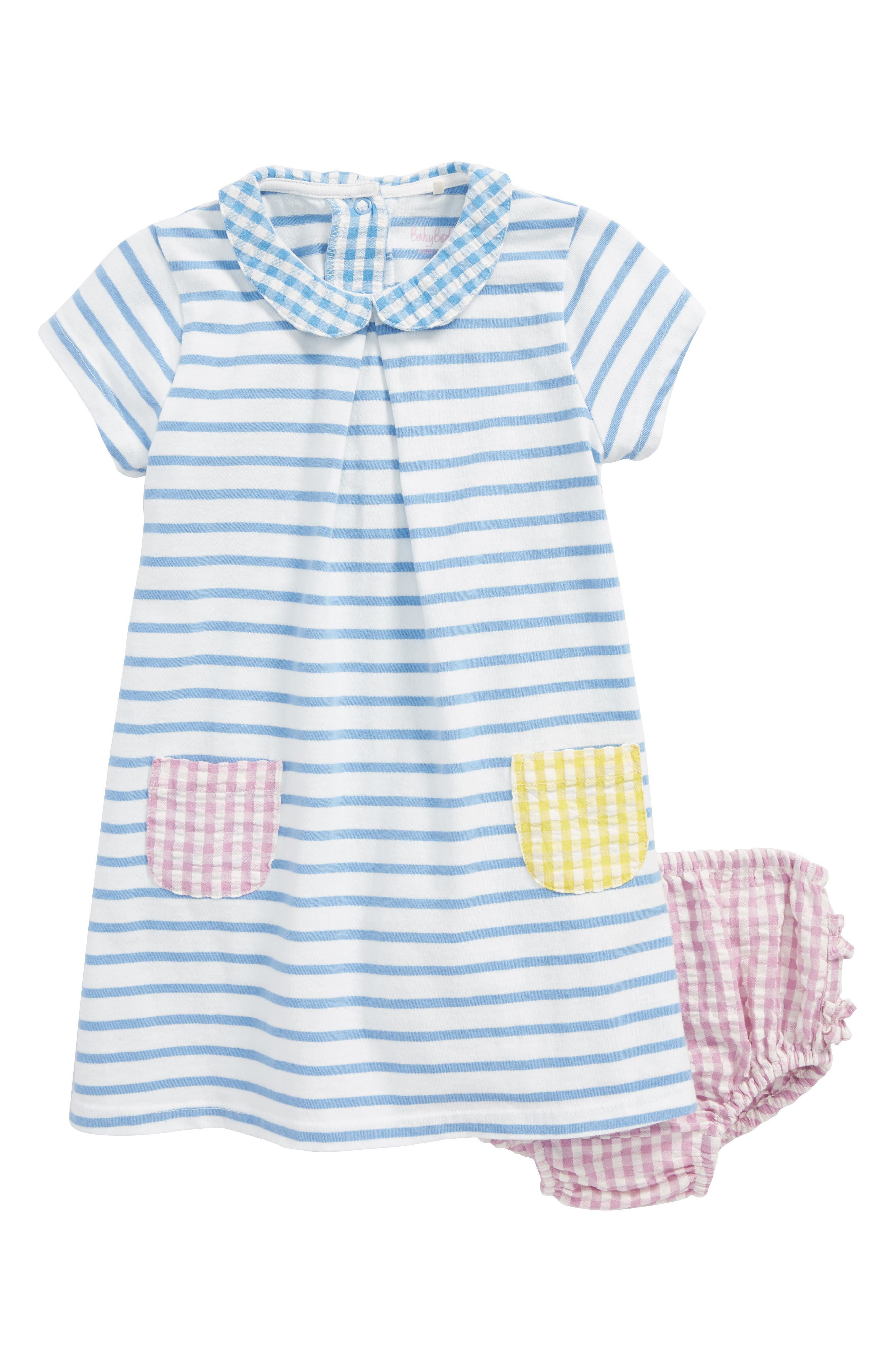 Hotchpotch Dress,                             Main thumbnail 1, color,                             Ivory/ Lake Blue