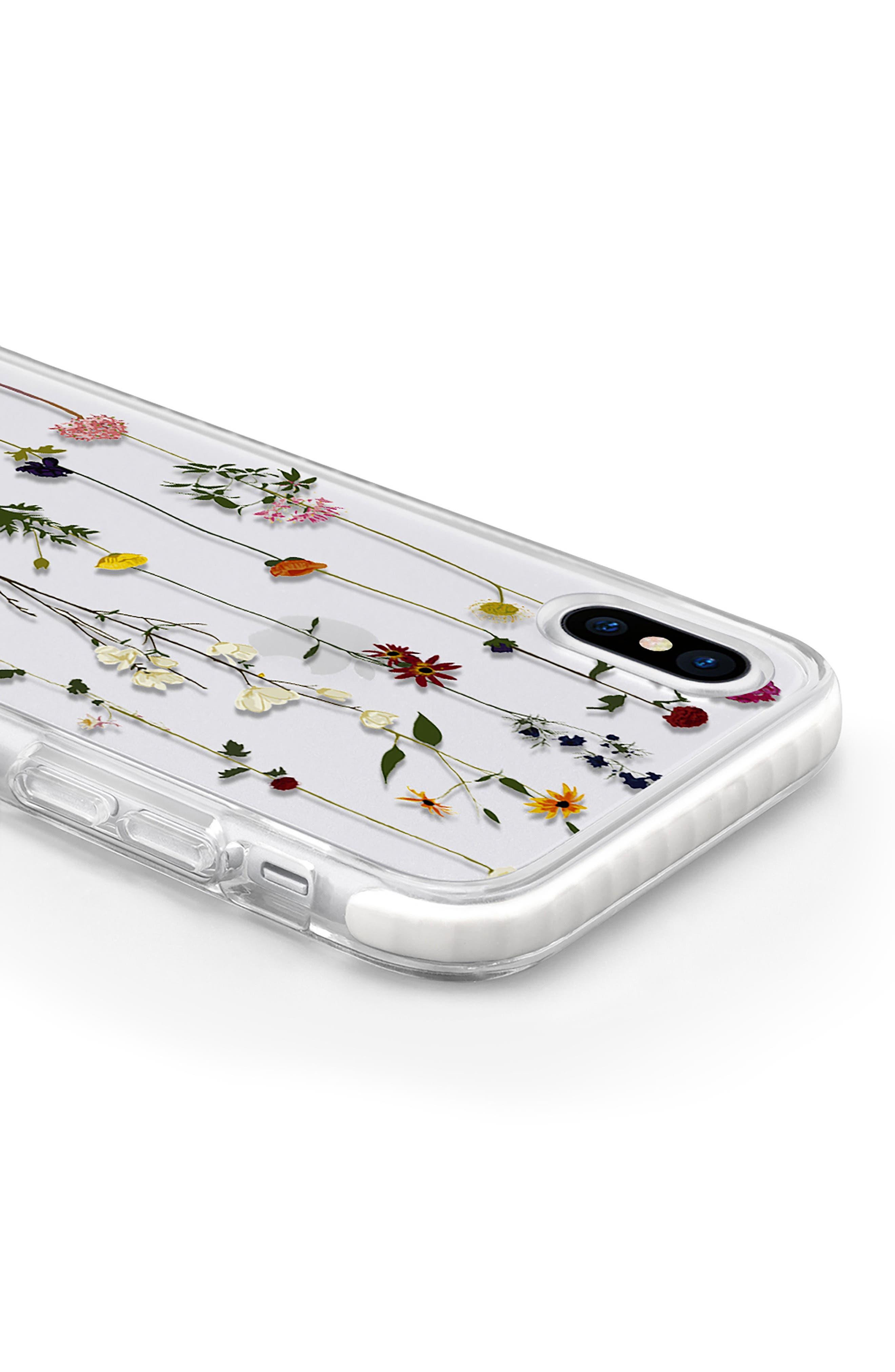 Floral Impact iPhone X Case,                             Alternate thumbnail 4, color,                             Clear Multi