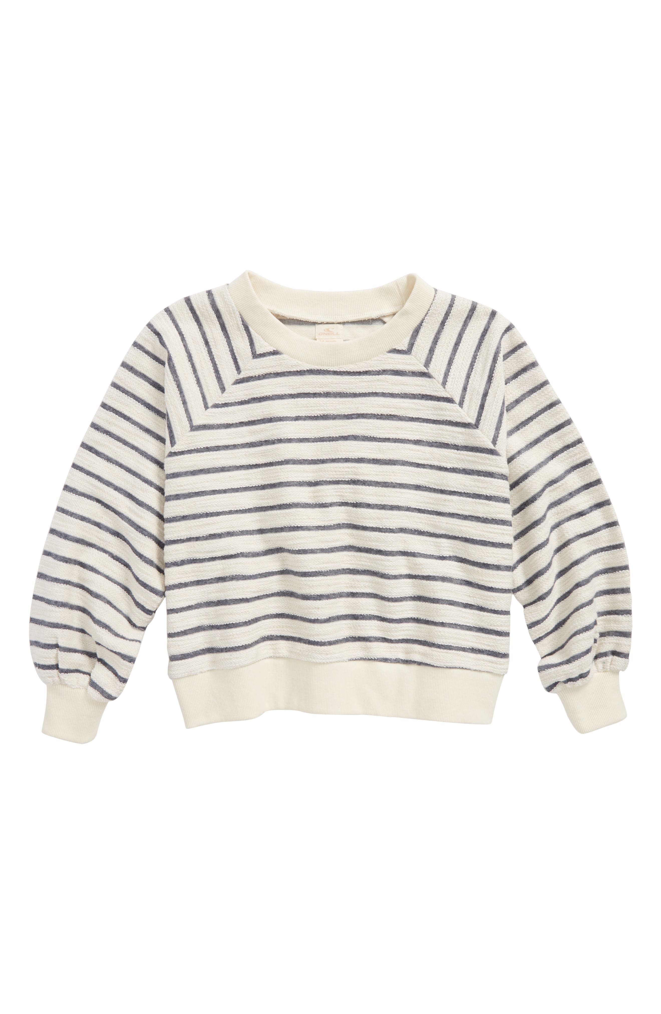 Sleep In Stripe Sweatshirt,                             Main thumbnail 1, color,                             White/ Blk Stripe