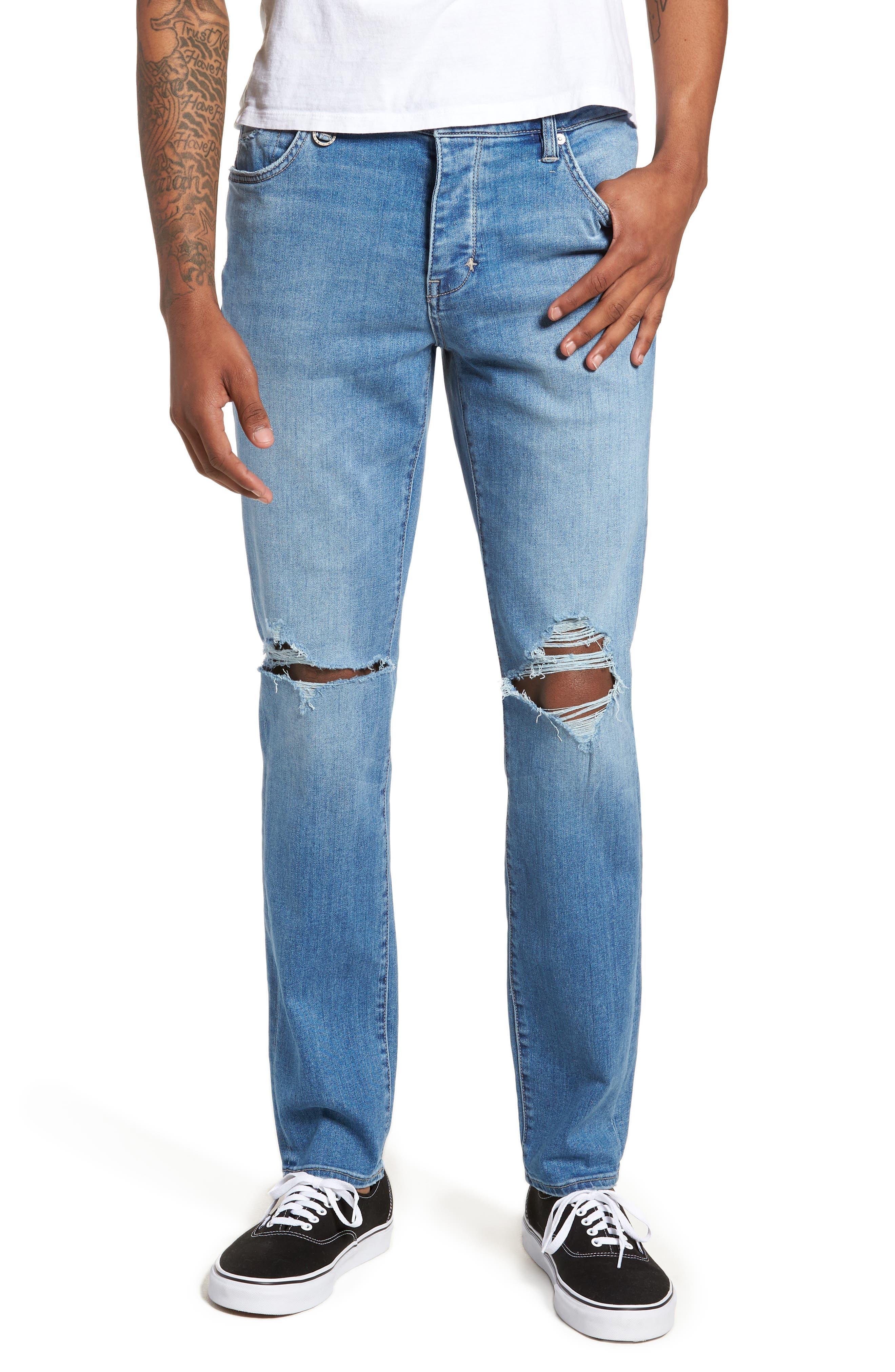Iggy Skinny Fit Jeans,                             Main thumbnail 1, color,                             Broken Lights