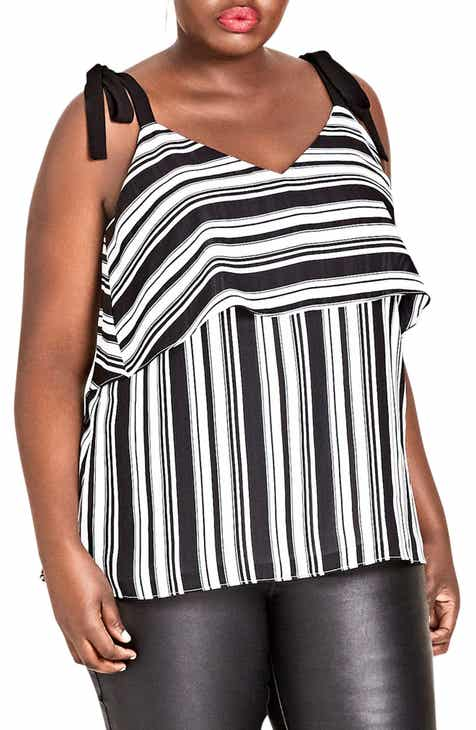 ee9e4194d40e85 City Chic Stripe It Lucky Top (Plus Size)