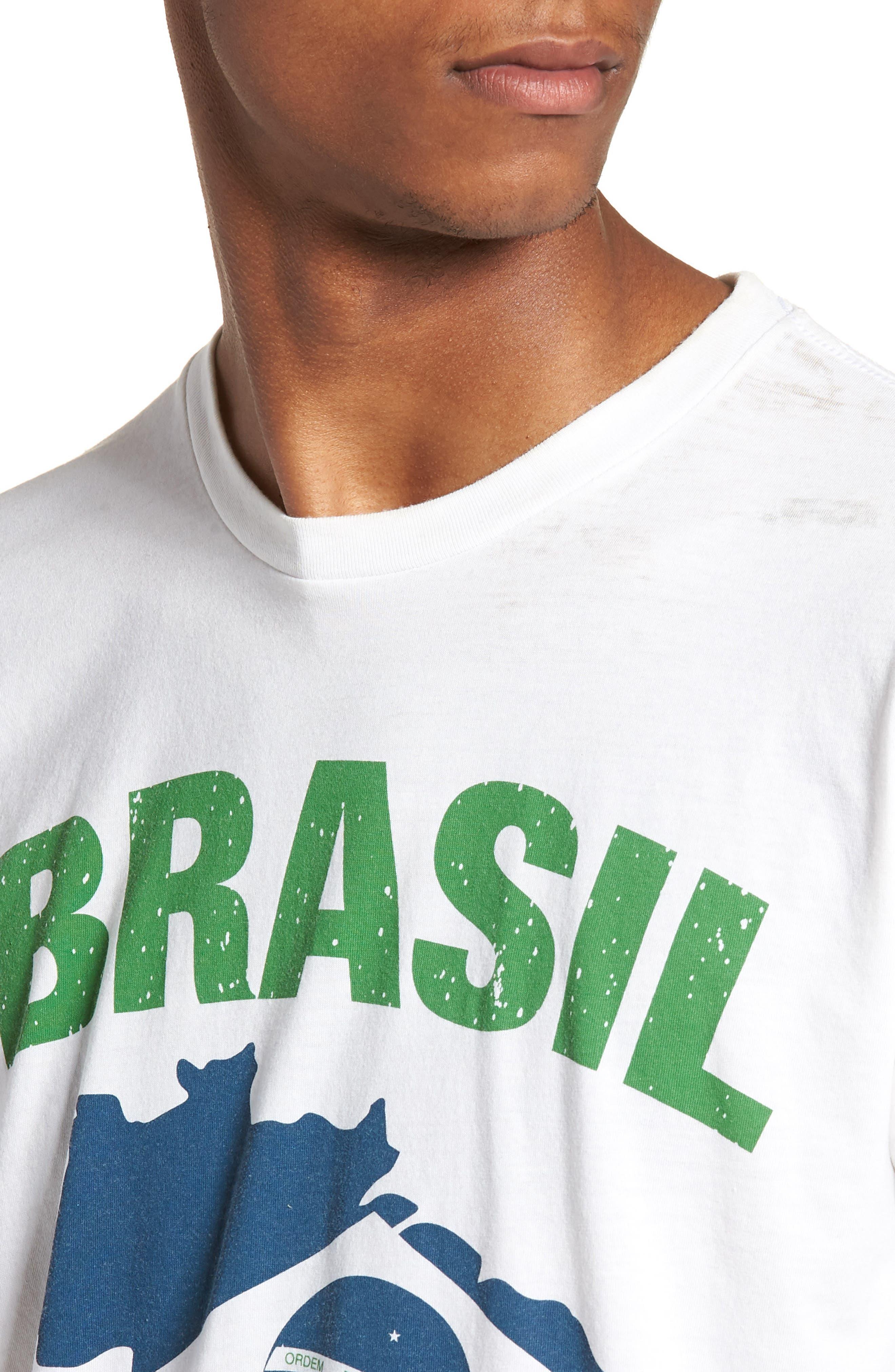 Brasil Futbol T-Shirt,                             Alternate thumbnail 4, color,                             White
