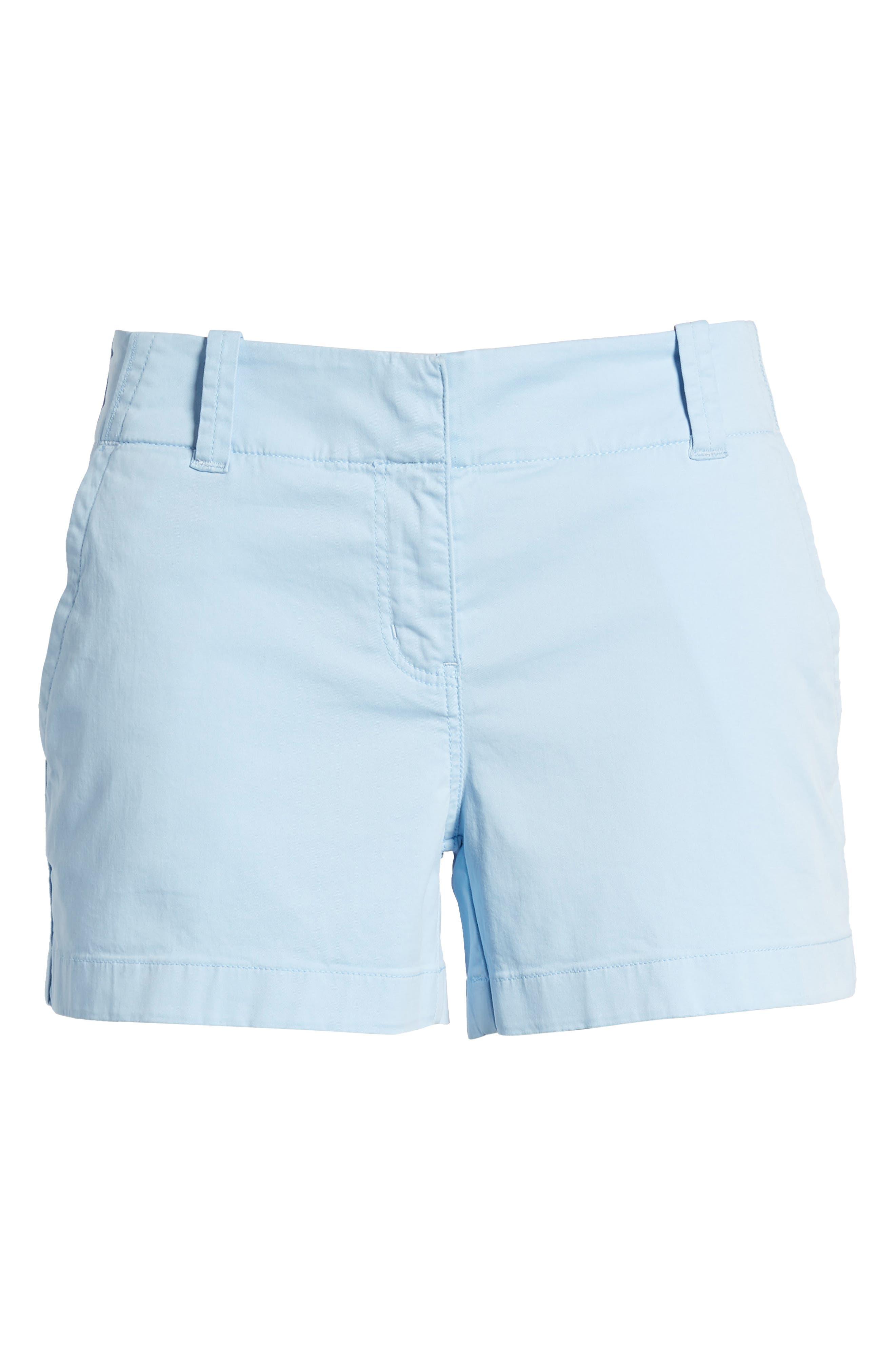 Everyday Stretch Cotton Shorts,                             Alternate thumbnail 6, color,                             Jake Blue