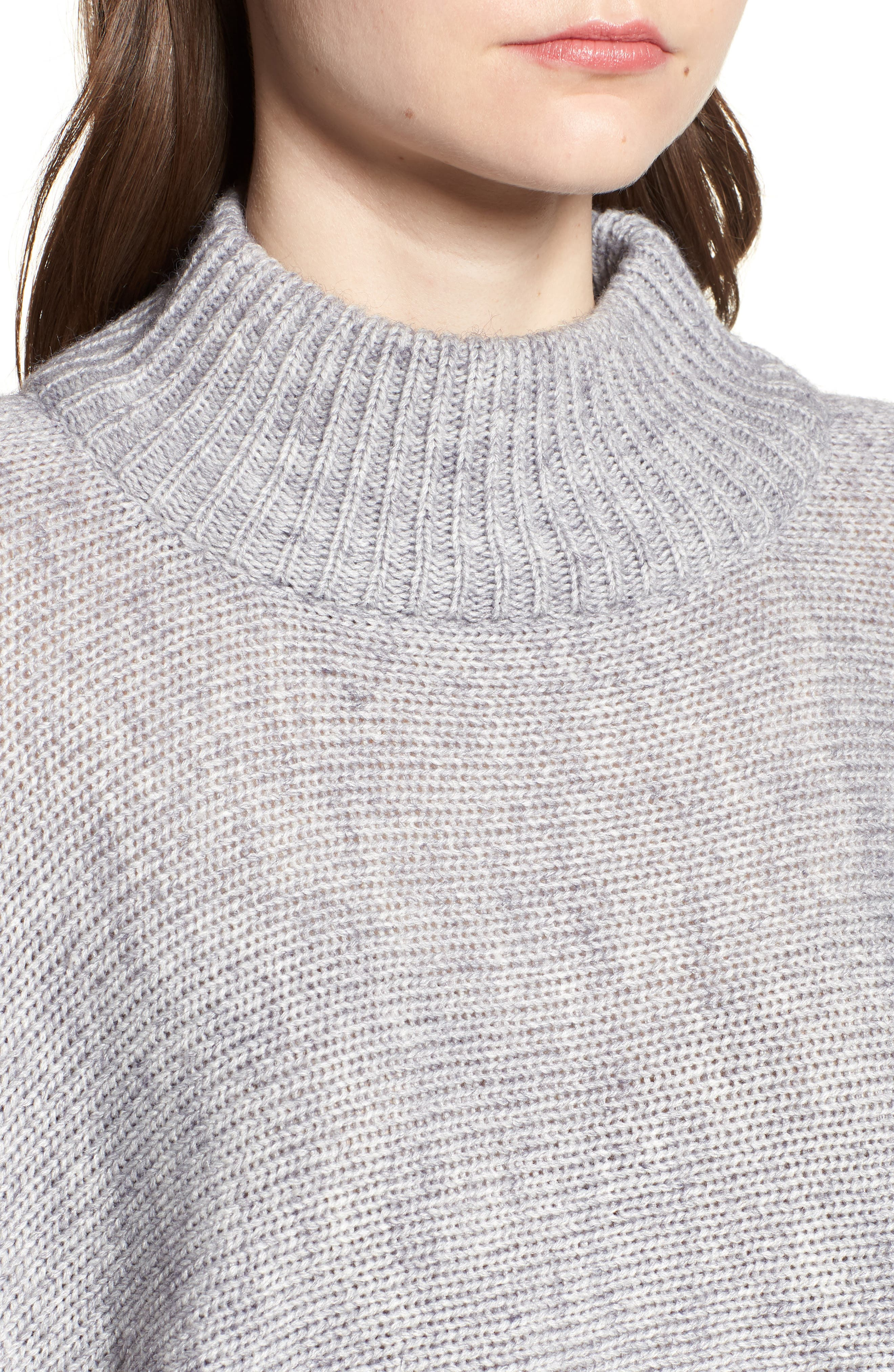 Bishop + Young Olivia Crop Sweater,                             Alternate thumbnail 4, color,                             Grey